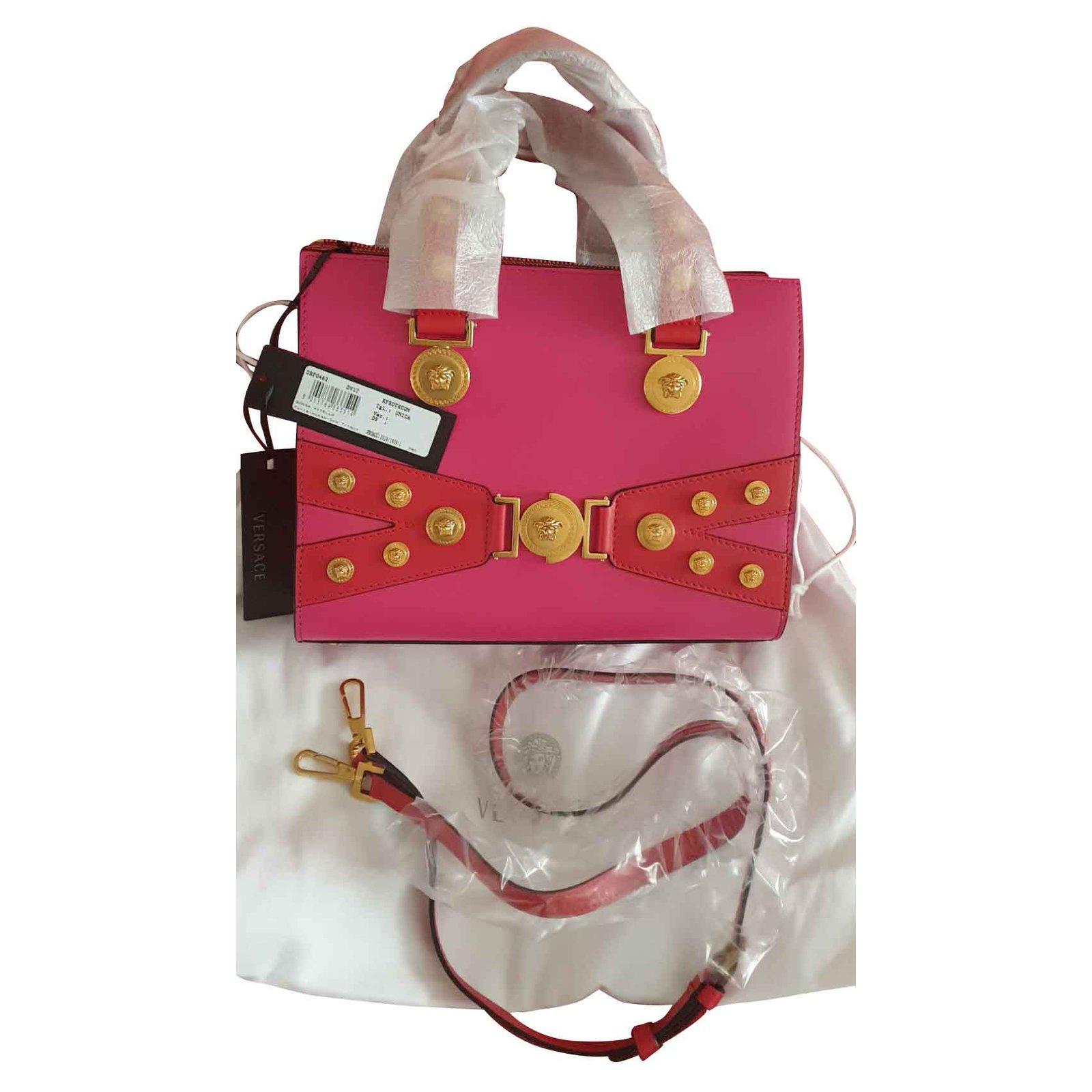 90d3cd5549a7 Versace Medusa Stud Tribute Tote in Pink Handbags Leather Pink ref.105544 -  Joli Closet