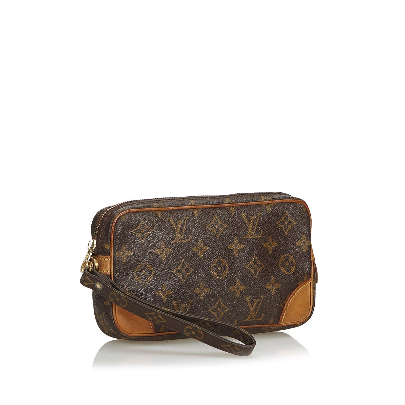 407abd0af Louis Vuitton Monogram Marly Dragonne PM Clutch bags Leather,Cloth ...