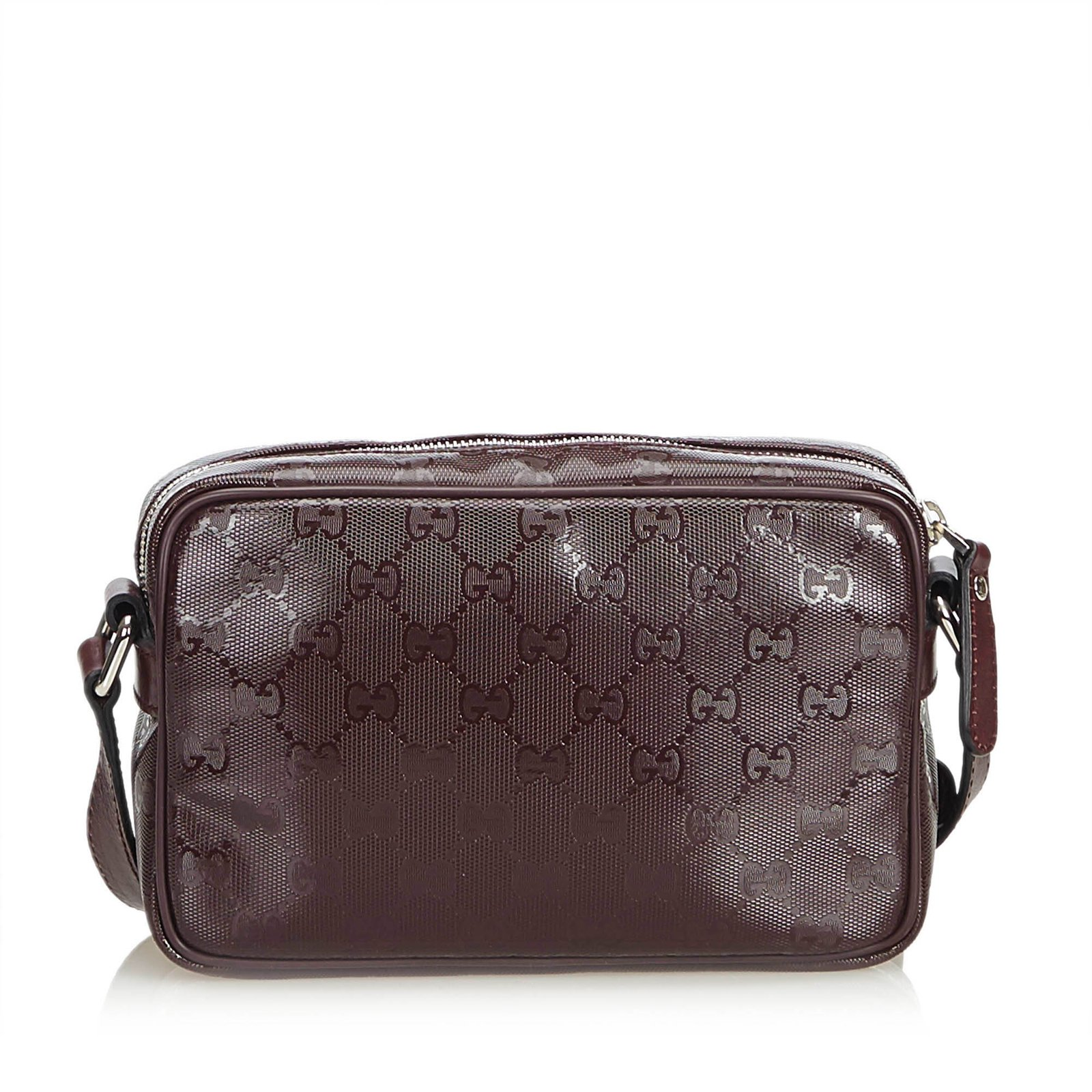 f8f5a3c0759f Gucci GG Imprime Crossbody Bag Handbags Leather,Other,Plastic Brown ...