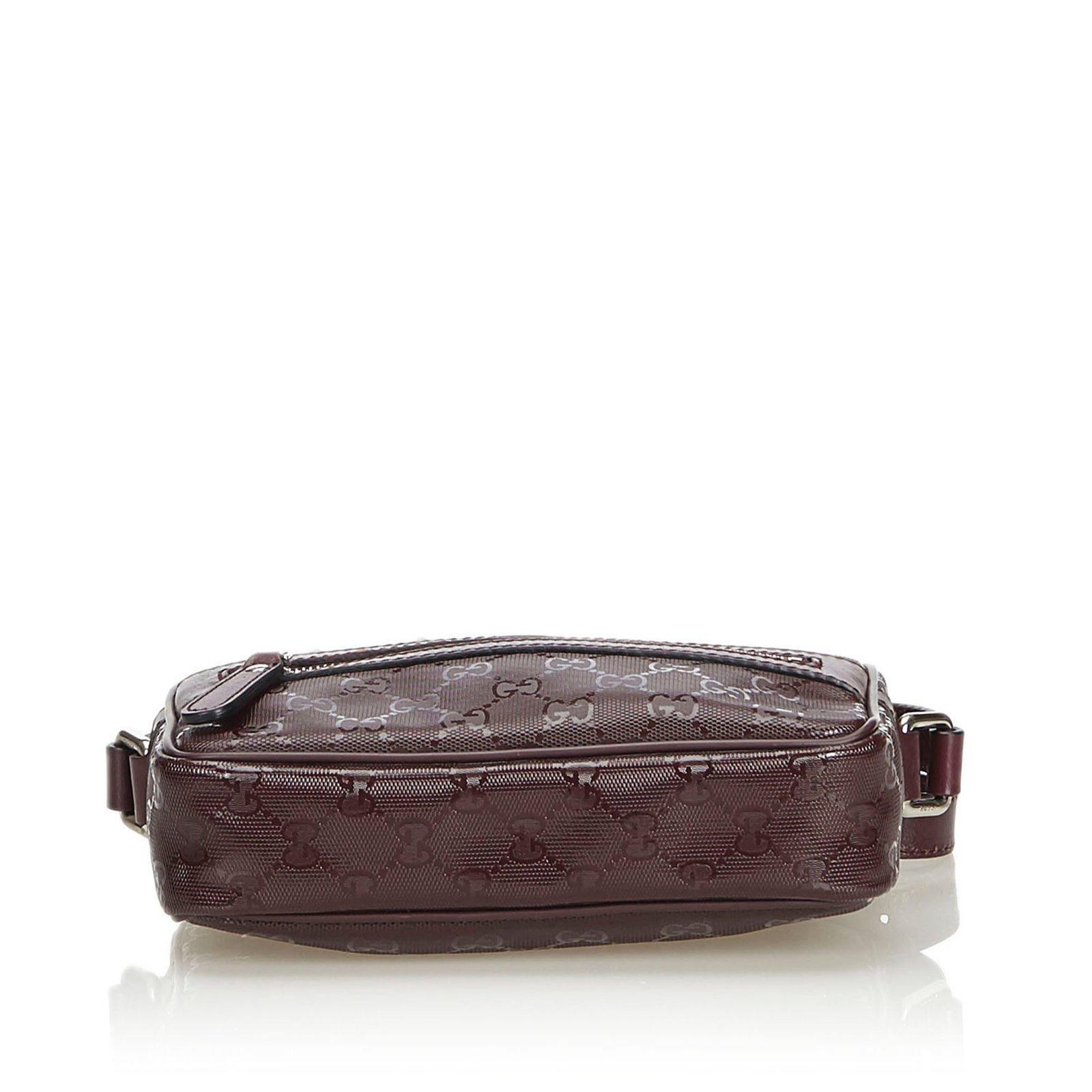 0e6aa4b65e1f Gucci GG Imprime Crossbody Bag Handbags Leather,Other,Plastic Brown  ref.106057 - Joli Closet