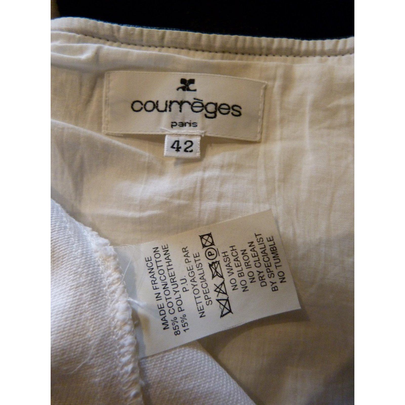 Robes Courreges Robes Coton Noir Blanc Ref 106296 Joli Closet