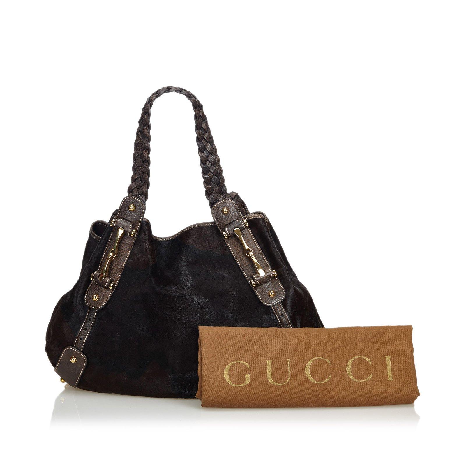 7a76c382010 Gucci Horsebit Pony Hair Pelham Tote Bag Totes Leather