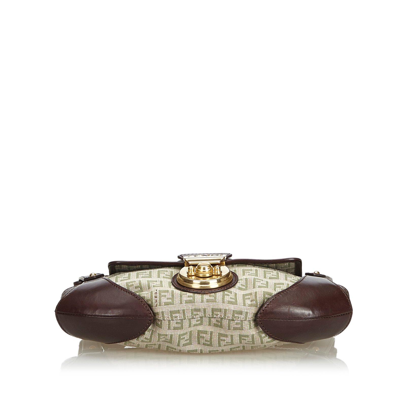 3bdaef99d330 Fendi Jacquard Zucchino Compilation Bag Handbags Leather