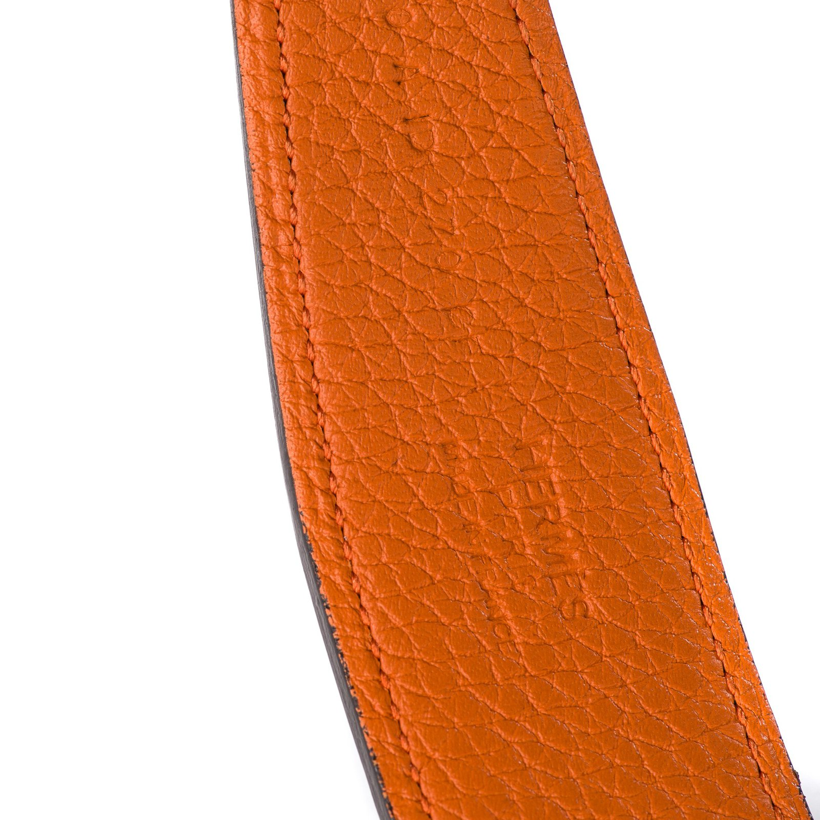 45fa6e28f8 Ceintures homme Hermès Splendide ceinture homme Hermès Reverso en cuir togo  orange et en togo noir avec boucle calandre en excellent état!