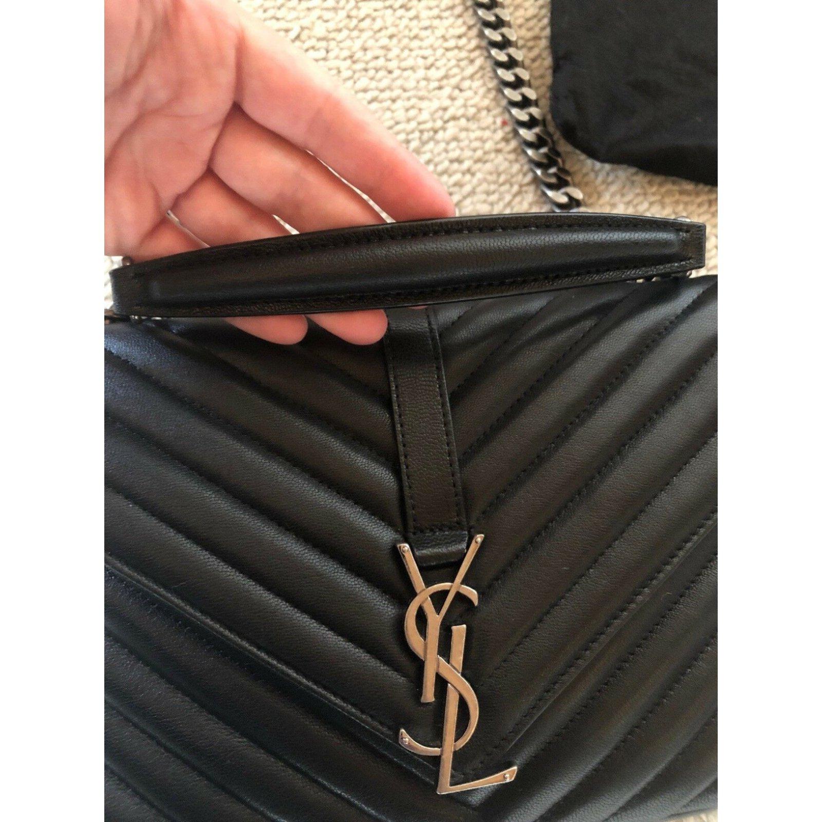 Saint Laurent Saint Laurent middle school Handbags Leather Black ref.107147  - Joli Closet 9c488309f141b