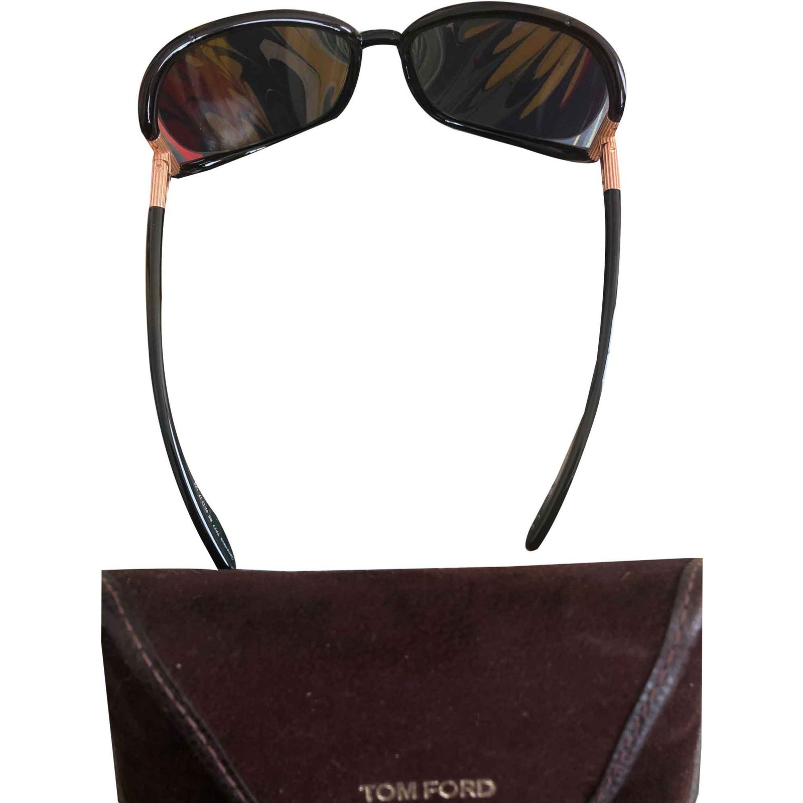 650d7759dfb4 Tom Ford GENEVIEVE Sunglasses Plastic Black ref.107270 - Joli Closet