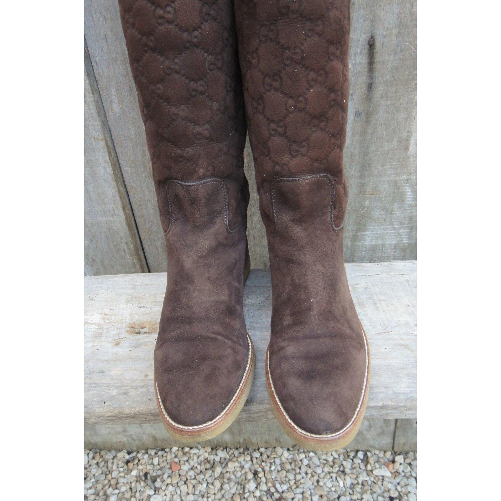 2ce7d82d7 Gucci Gucci boots in shearling Boots Deerskin Brown ref.107754 - Joli Closet