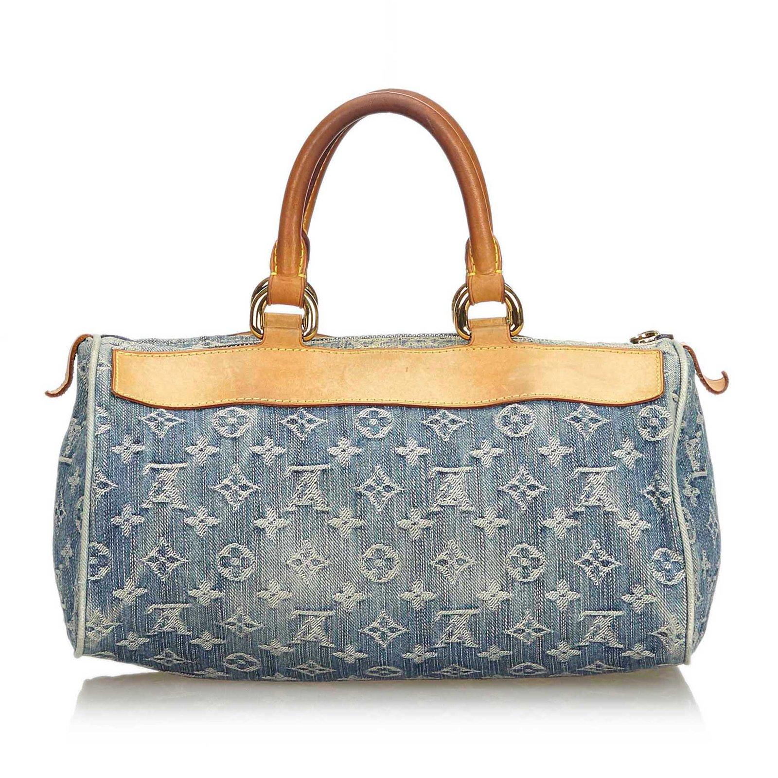 549f8fba4dca Louis Vuitton Monogram Denim Neo Speedy Handbags Leather