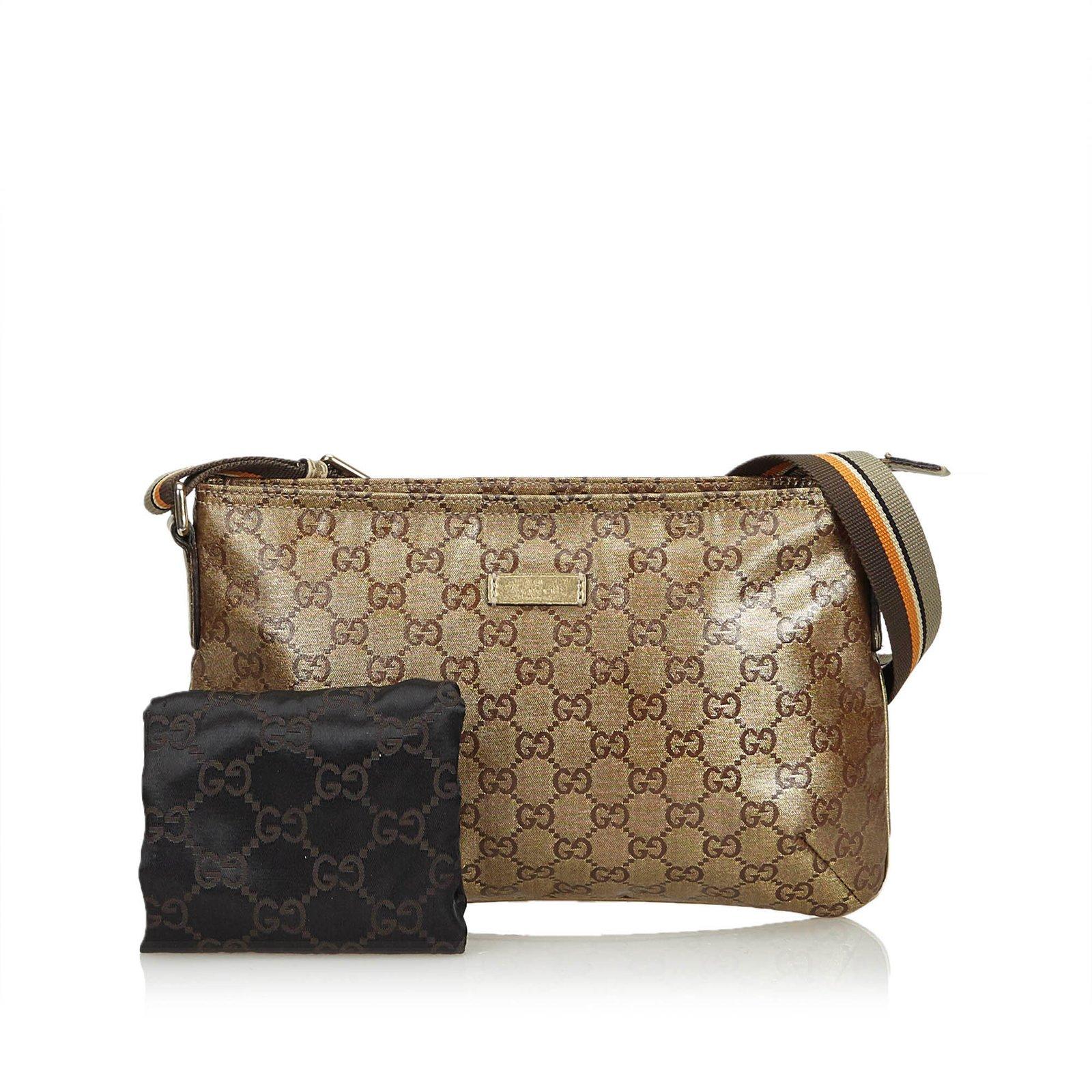 b8bd5ef3dacae7 Gucci GG Supreme Coated Canvas Crossbody Bag Handbags Cloth,Cloth Brown  ref.108674 - Joli Closet