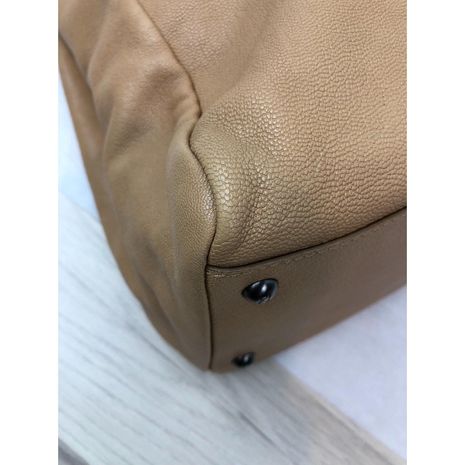 Facebook · Pin This. Fendi PEEKABOO Handbags Leather Beige ref.108892 3dc331aee580e