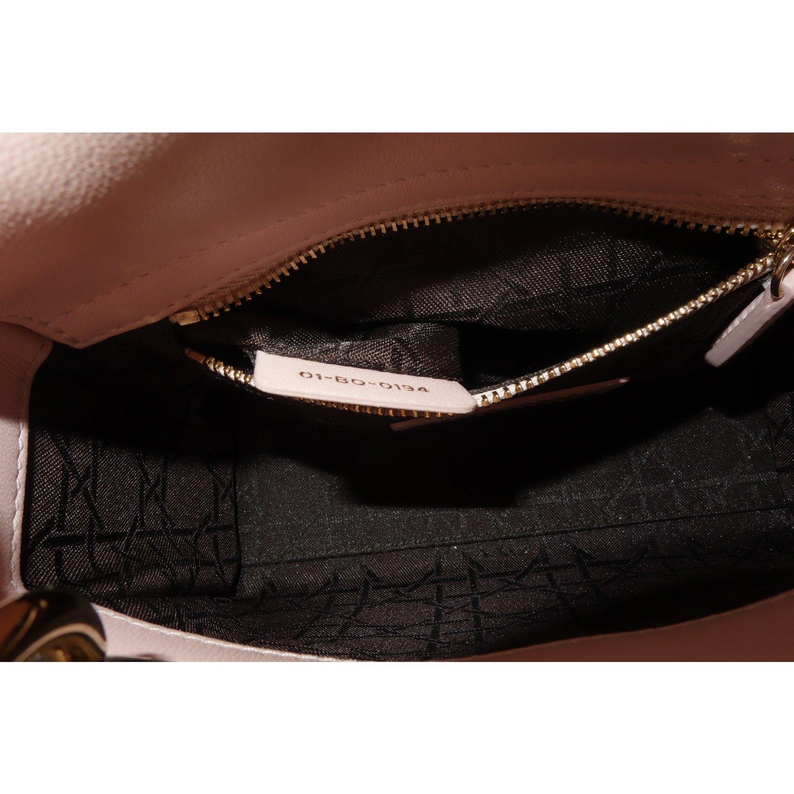 9d04212d11 Dior MINI LADY DIOR BAG Handbags Leather Pink,Multiple colors ref.109275 -  Joli Closet