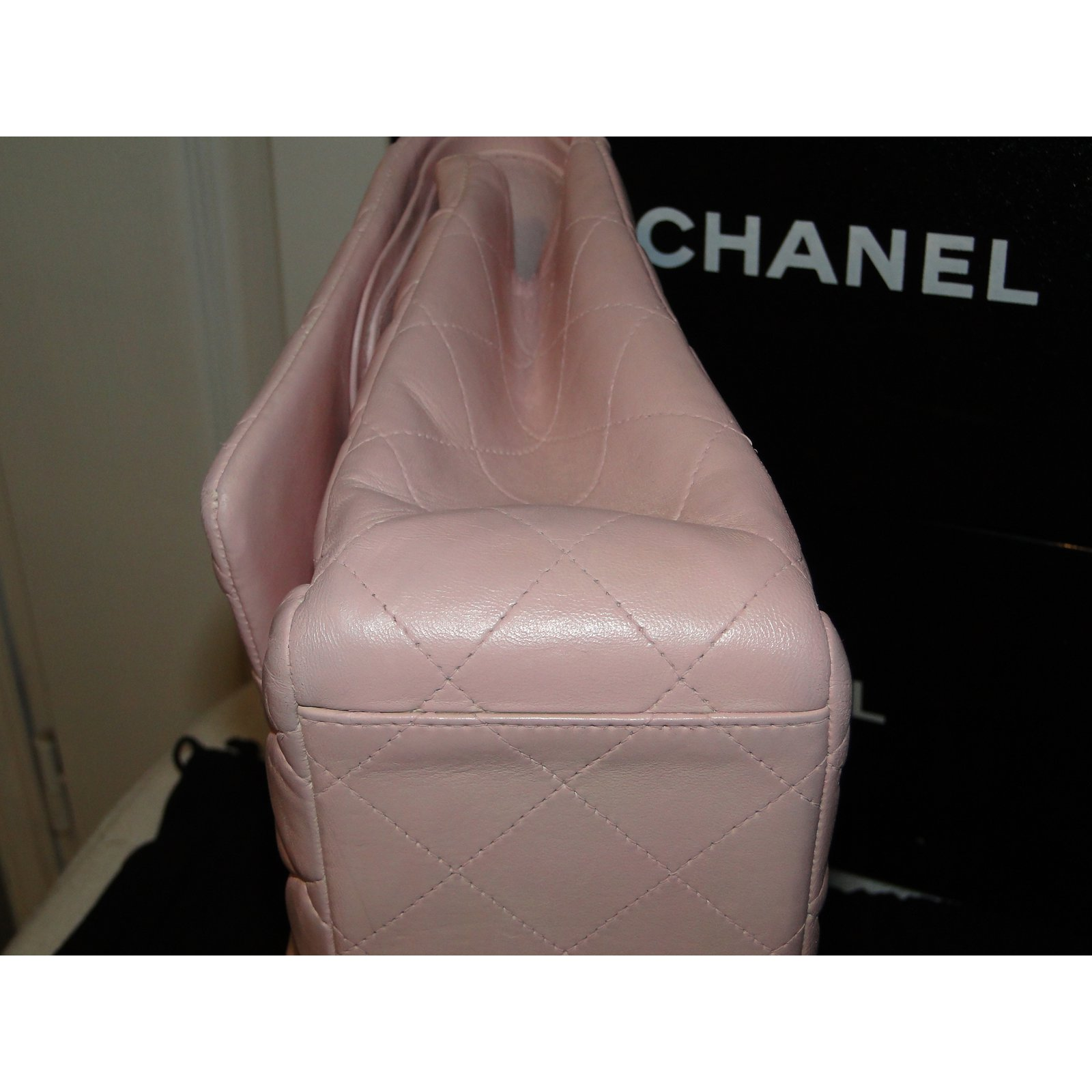 e3a9e0b29584 Chanel Timeless MAXI lined Flap bag Handbags Leather,Lambskin Pink  ref.109293 - Joli Closet