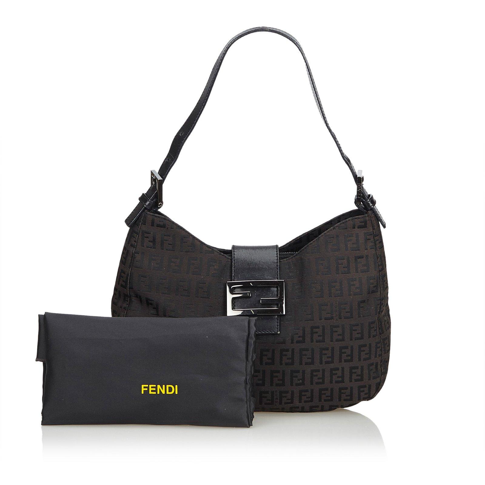 Fendi Zucca Jacquard Mamma Forever Shoulder Bag Handbags Other d1bd36bc651fe