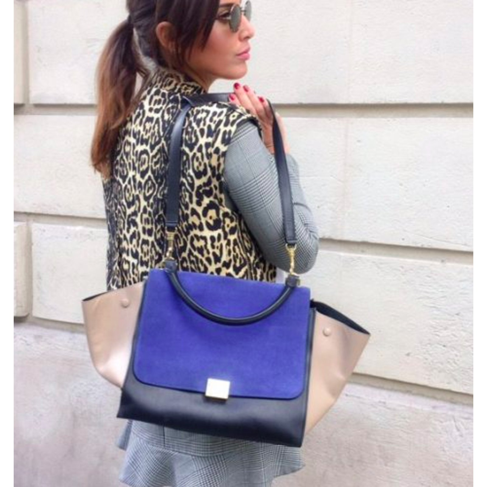 5e1b76aa496e Céline Céline Trapèze Handbags Leather Other ref.110299 - Joli Closet
