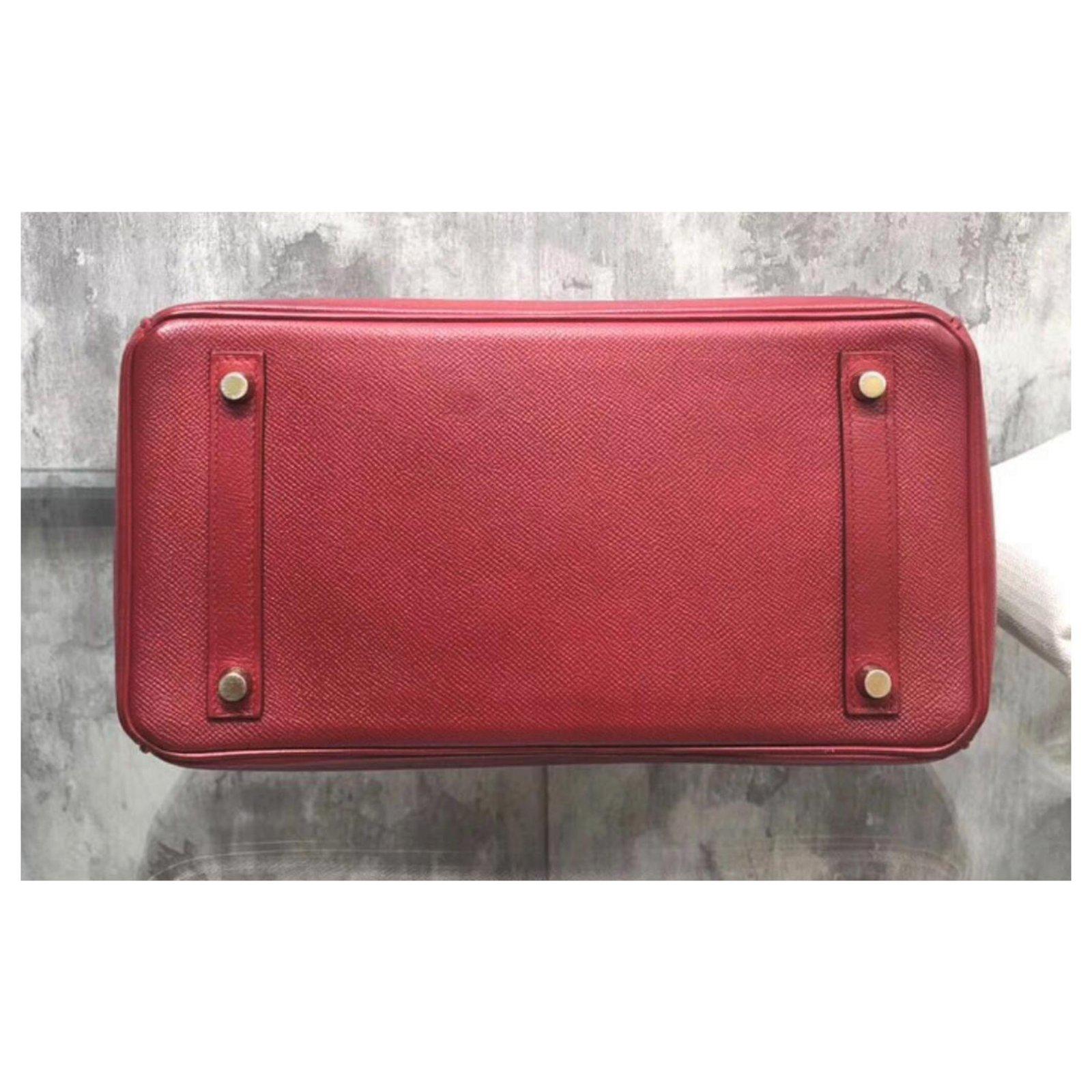 50ea7bedf1b7 Hermès HERMES BIRKIN 30 in Rouge H Epsom with GHW Handbags Leather Red  ref.111215 - Joli Closet
