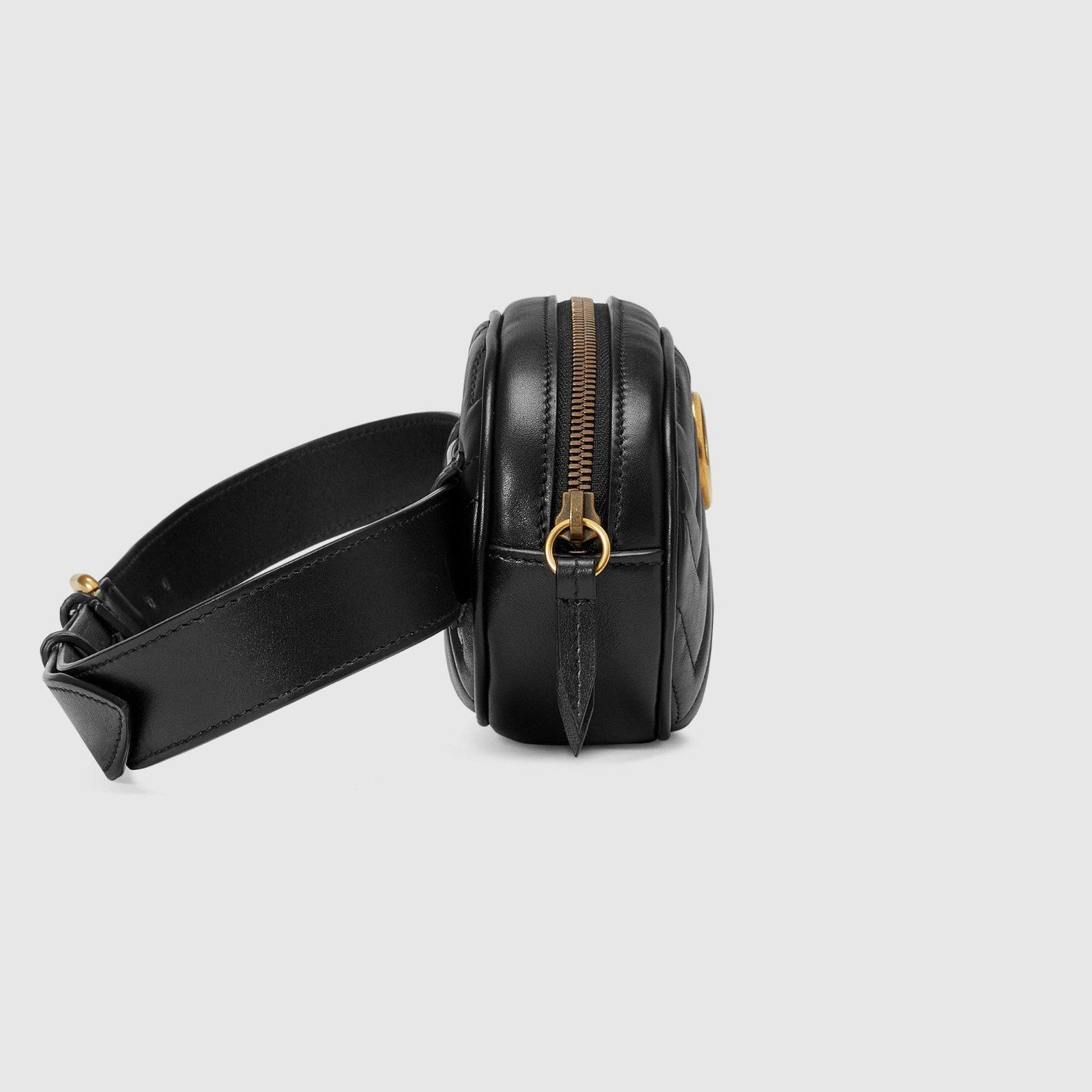 7daccdbbb Pochettes Gucci GG Marmont Cuir Noir ref.111467 - Joli Closet