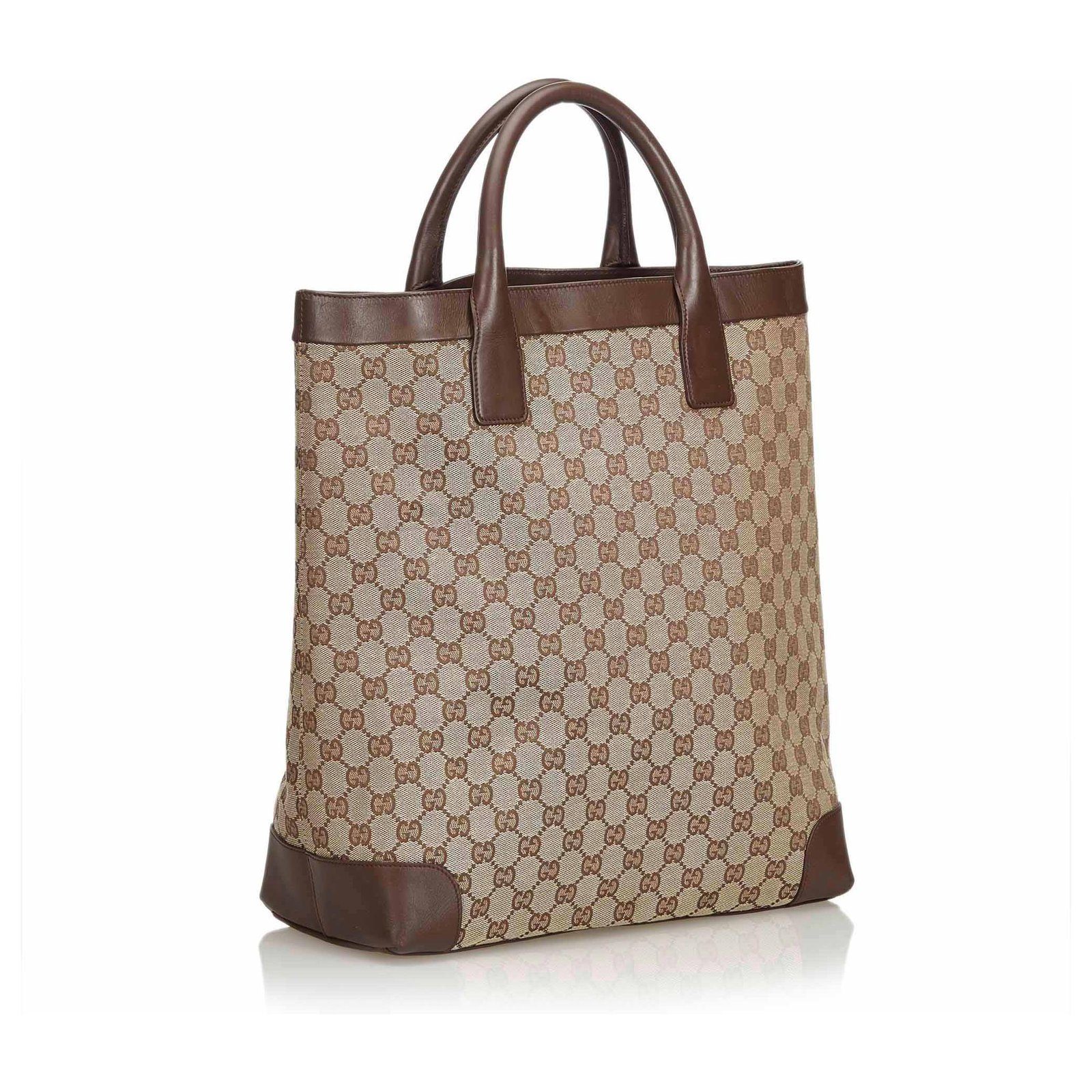 339beadf777 Gucci GG Jacquard Tote Bag Totes Leather,Other,Cloth Brown,Beige ...