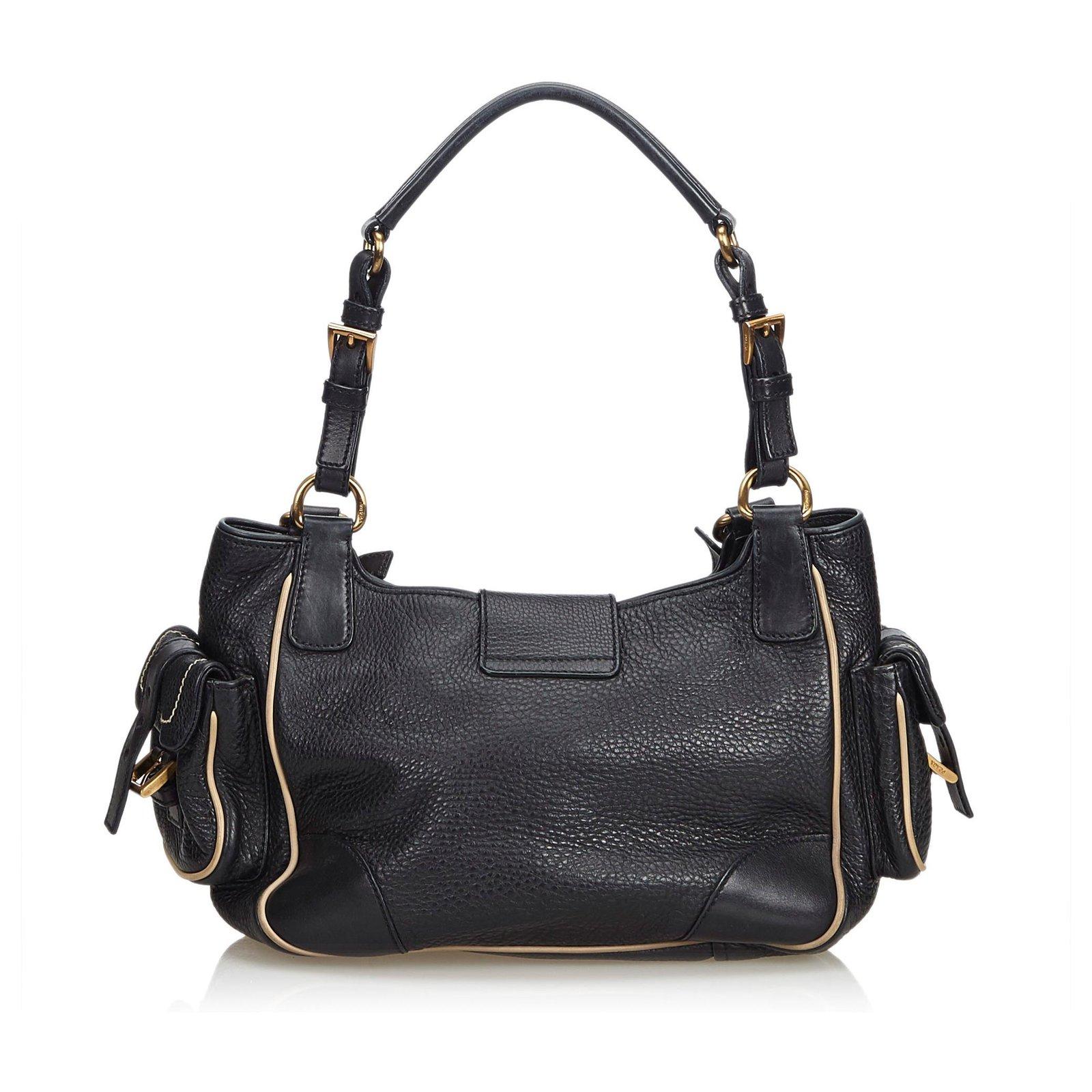 2bf2fe7bad9e71 Prada Leather Shoulder Bag Handbags Leather,Other Black ref.112863 ...