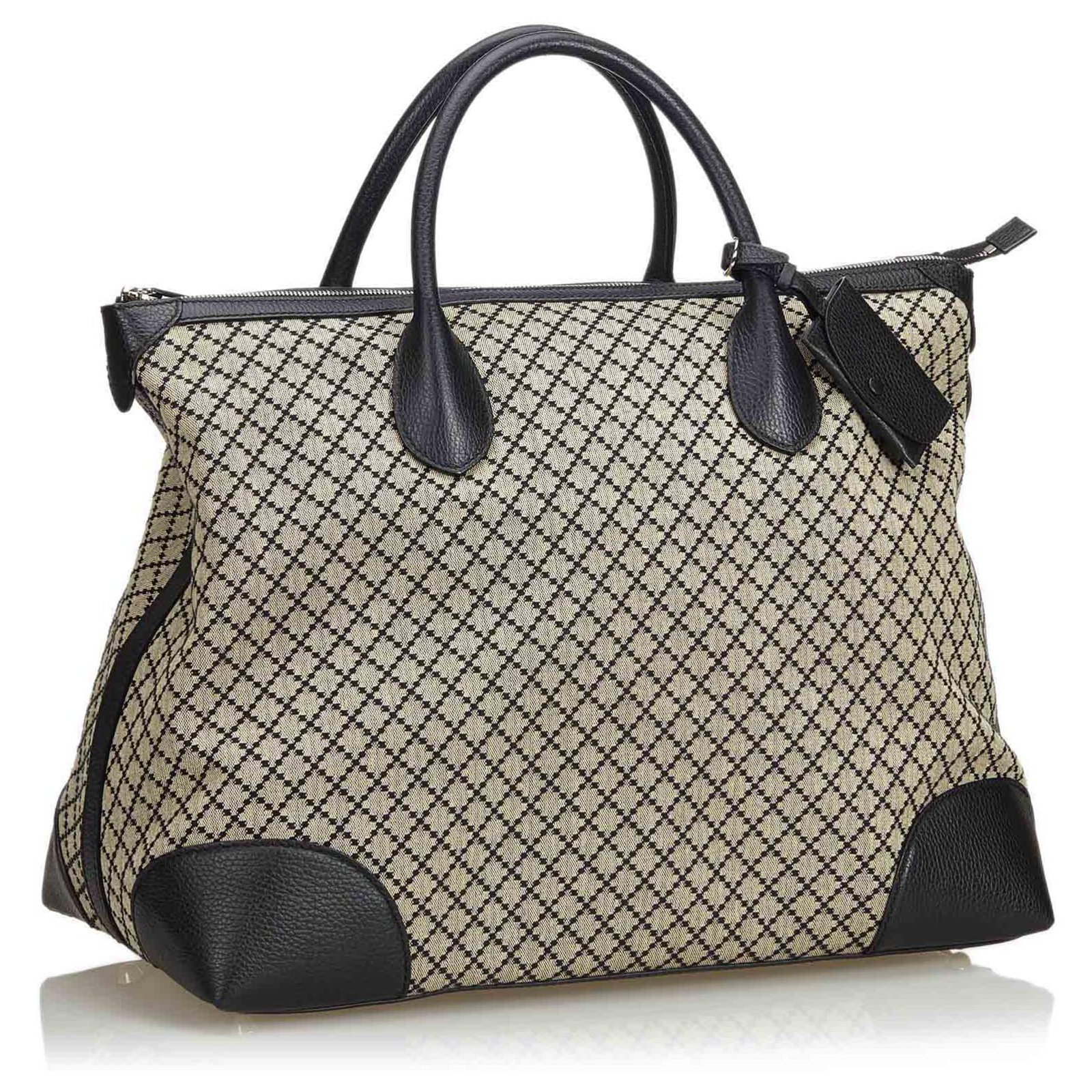 73be850ff359 Gucci Diamante Jacquard Travel Bag Travel bag Leather,Other,Cloth ...