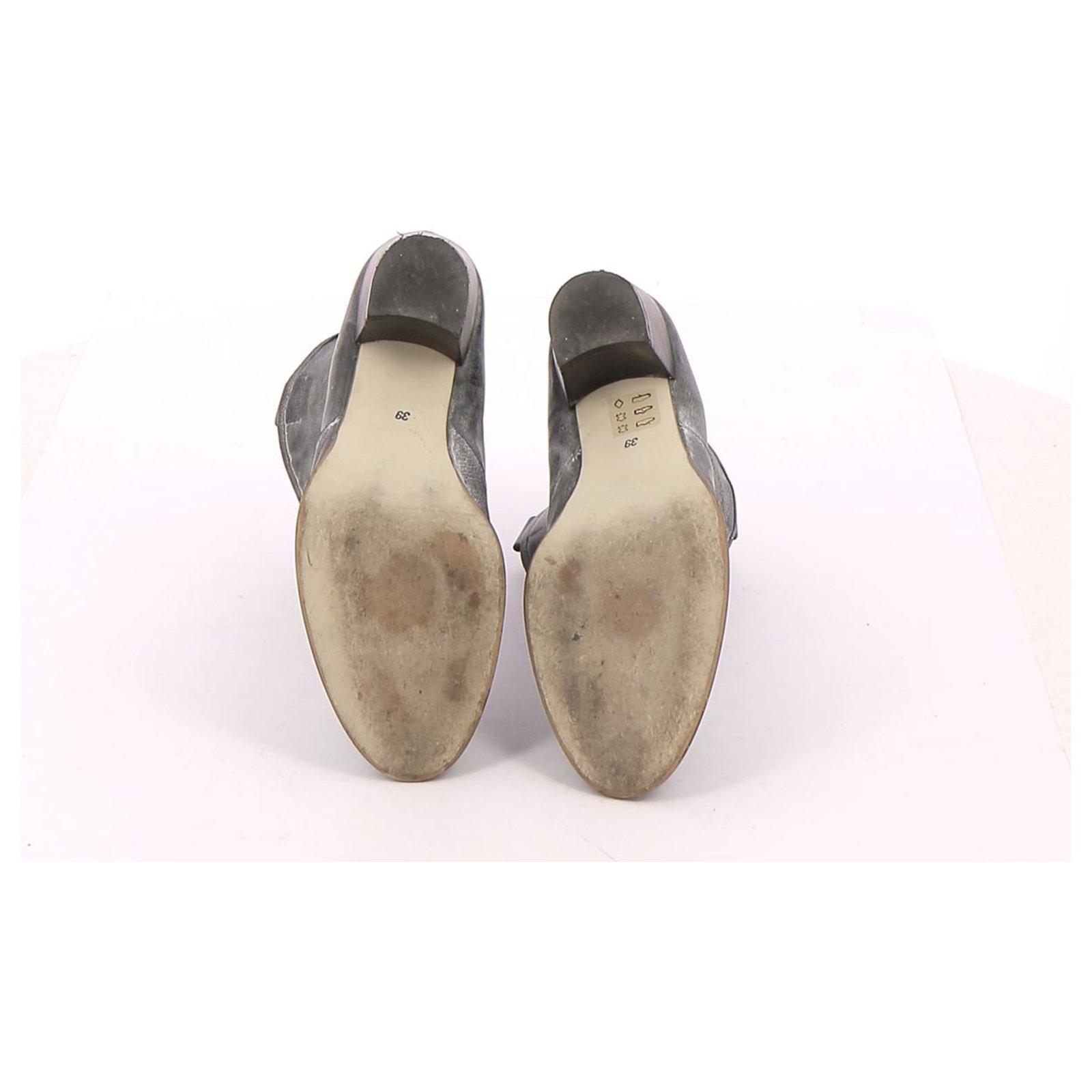 Bottines Jonak Bottines Low Boots Cuir Gris ref.114718