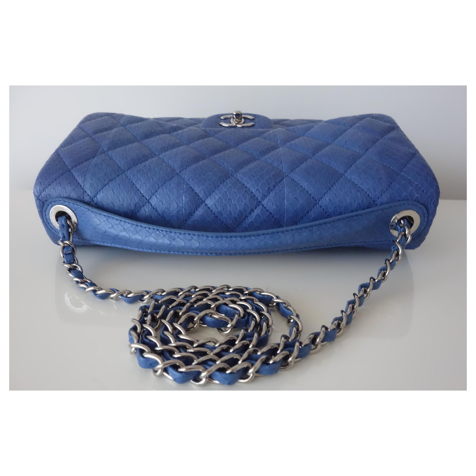 8218ad8de1a96b Chanel BAG CHANEL LEATHER EXOTIC GM Handbags Exotic leather Blue ref.114897  - Joli Closet