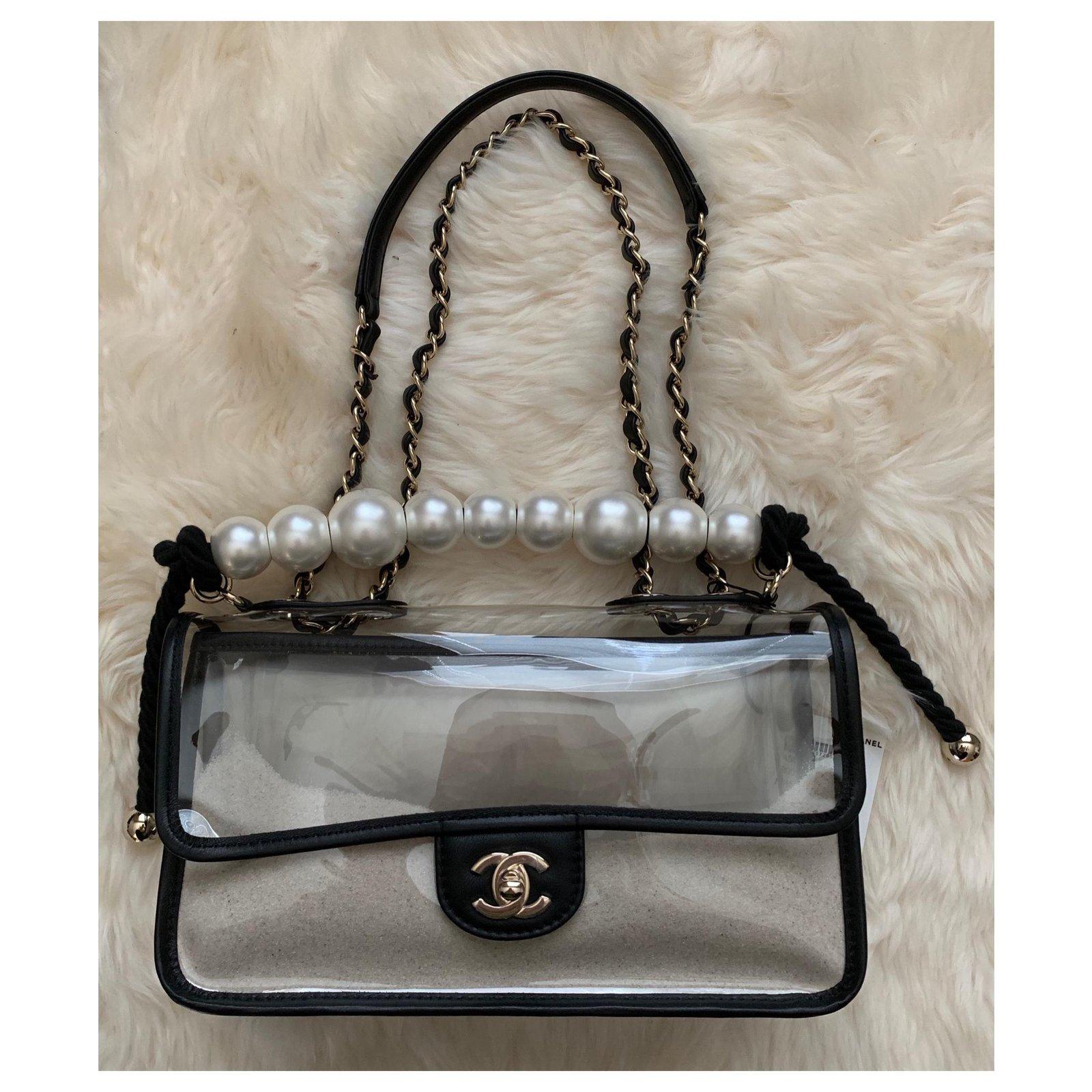 88d4d651f669e6 Chanel Coco Sand PVC Flap Bag Handbags Plastic Black ref.117203 - Joli  Closet