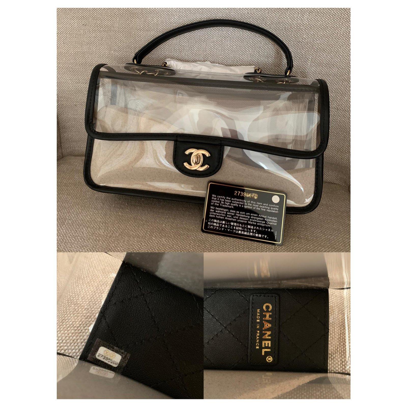 b011162c27c8e Chanel Coco Sand PVC Flap Bag Handbags Plastic Black ref.117205 - Joli  Closet