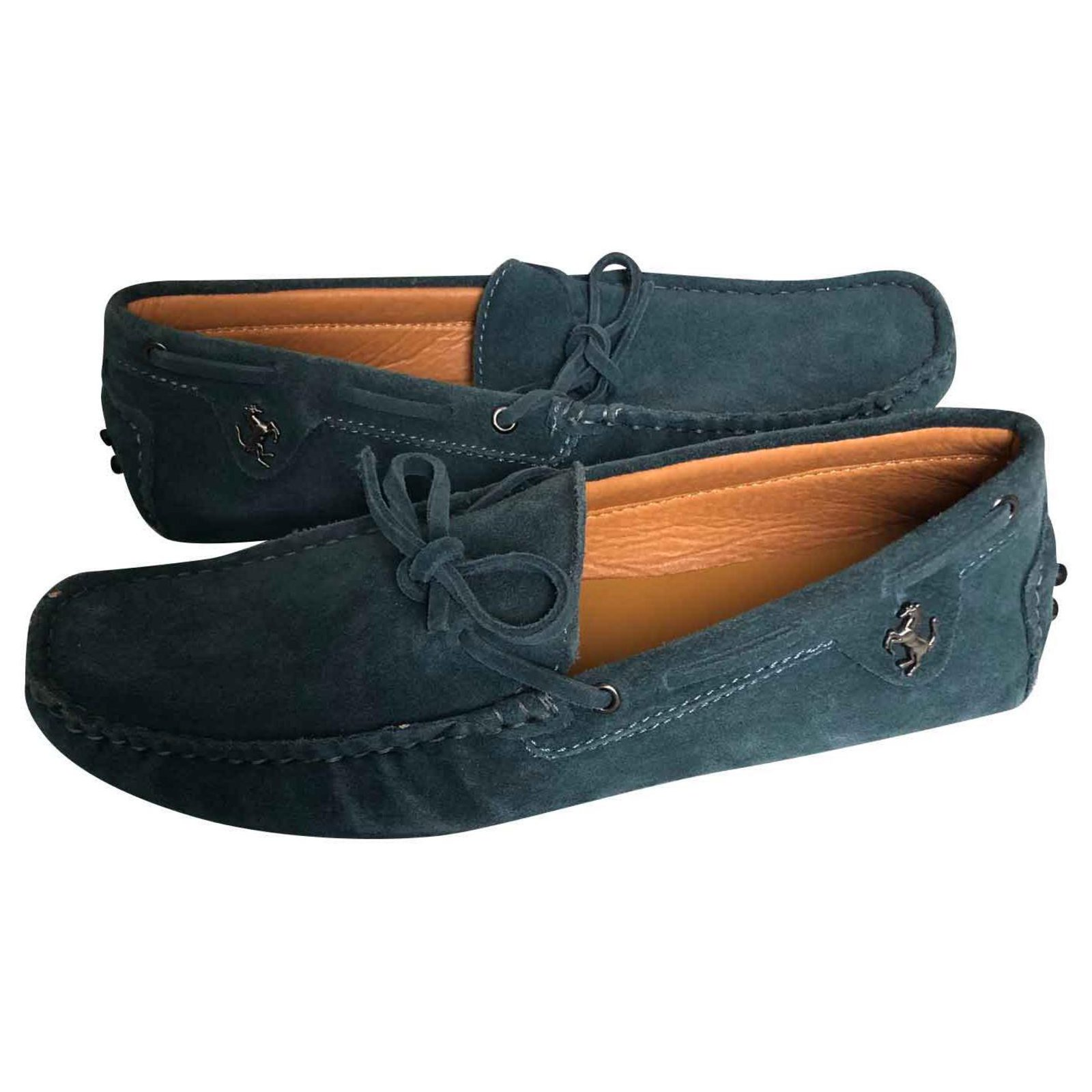b762a9cdf904f Tod's Tod's Gommino Suede Driving Shoes Loafers Slip ons Suede Blue  ref.117299 - Joli Closet