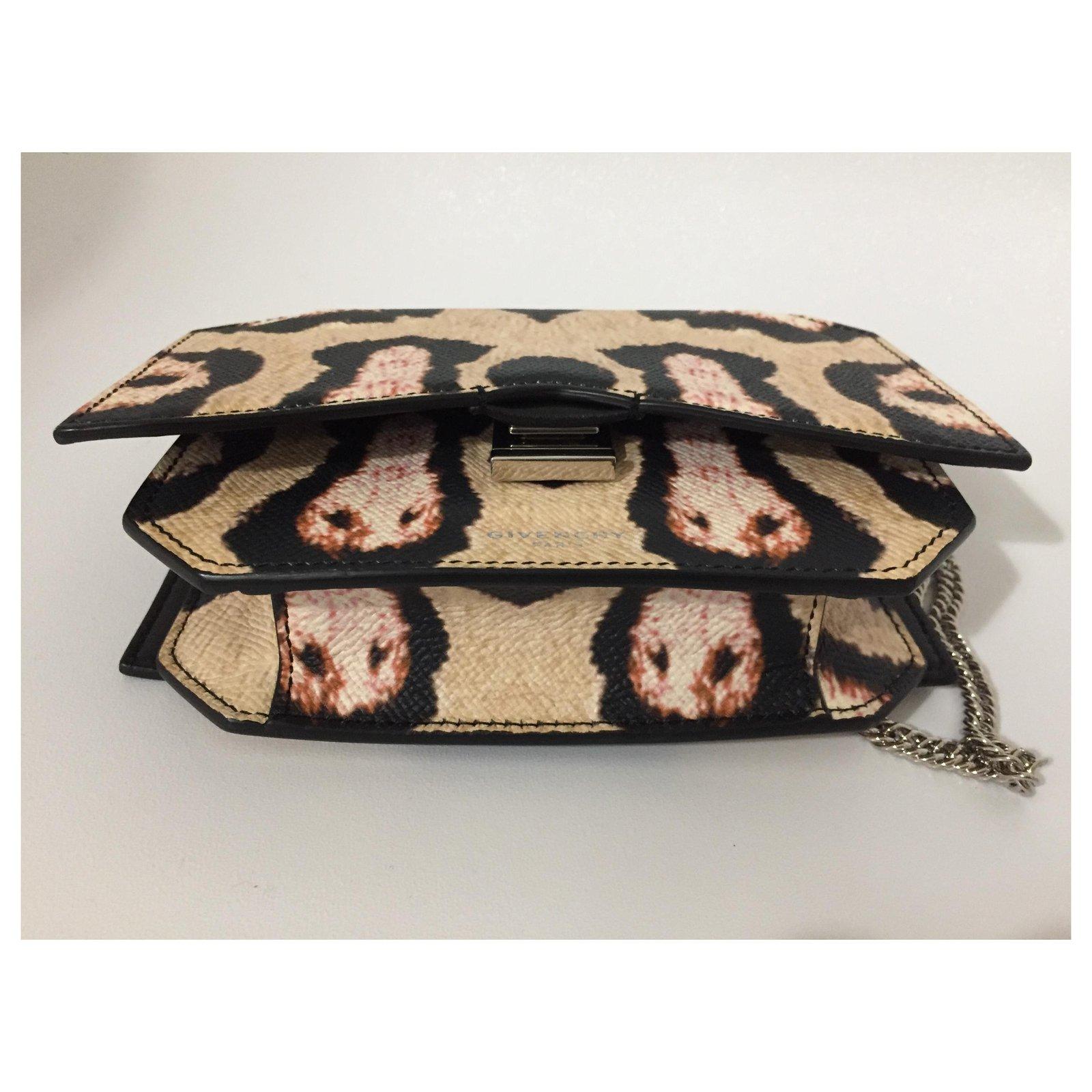 Multicolore Closet Ref 119280 Cut Joli Cuir Pochettes Givenchy Bow g6Y7bfy