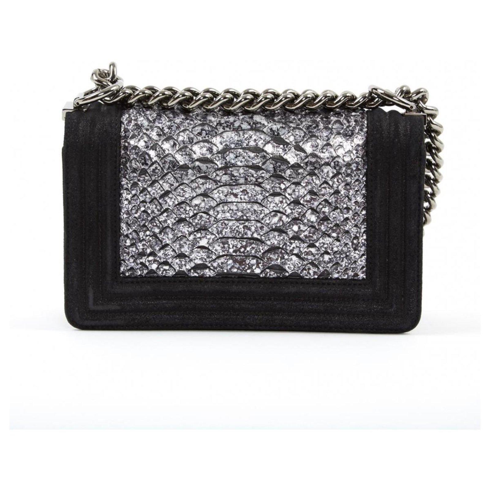 aec6efbdb8907a Chanel CHANEL BOY PYTHON RARE! Handbags Exotic leather,Python Black ...