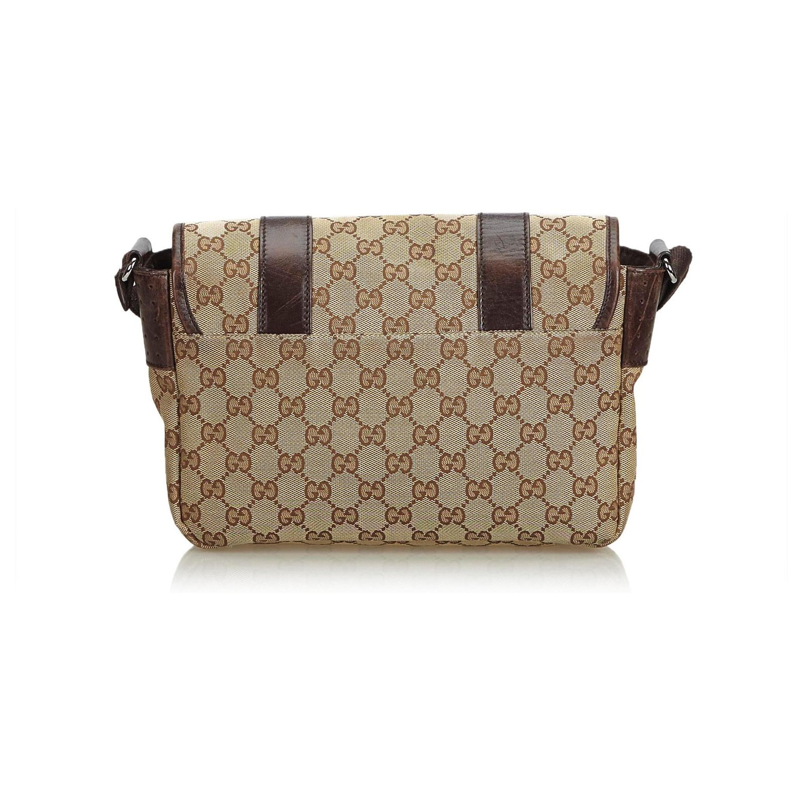 126c6c89a Gucci Gucci Brown GG Jacquard Crossbody Bag Handbags Leather,Other,Cloth  Brown ref.120705 - Joli Closet