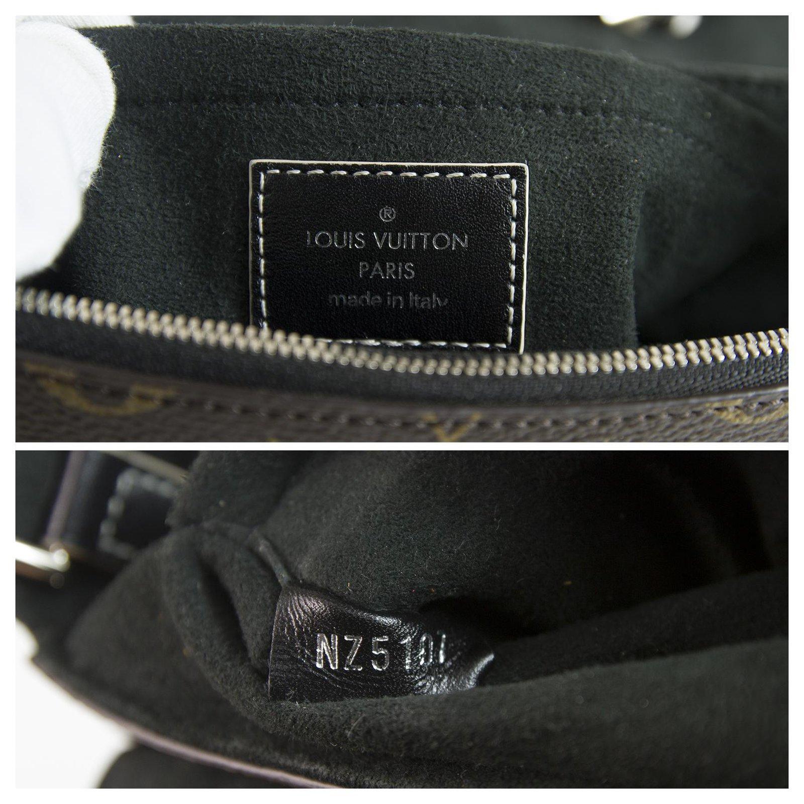 7e96d6c2c818 Louis Vuitton LOUIS VUITTON Chain It Bag PM Canvas   Black Leather Handbag  Crossbody S S 2017 Handbags Leather Brown ref.123409 - Joli Closet