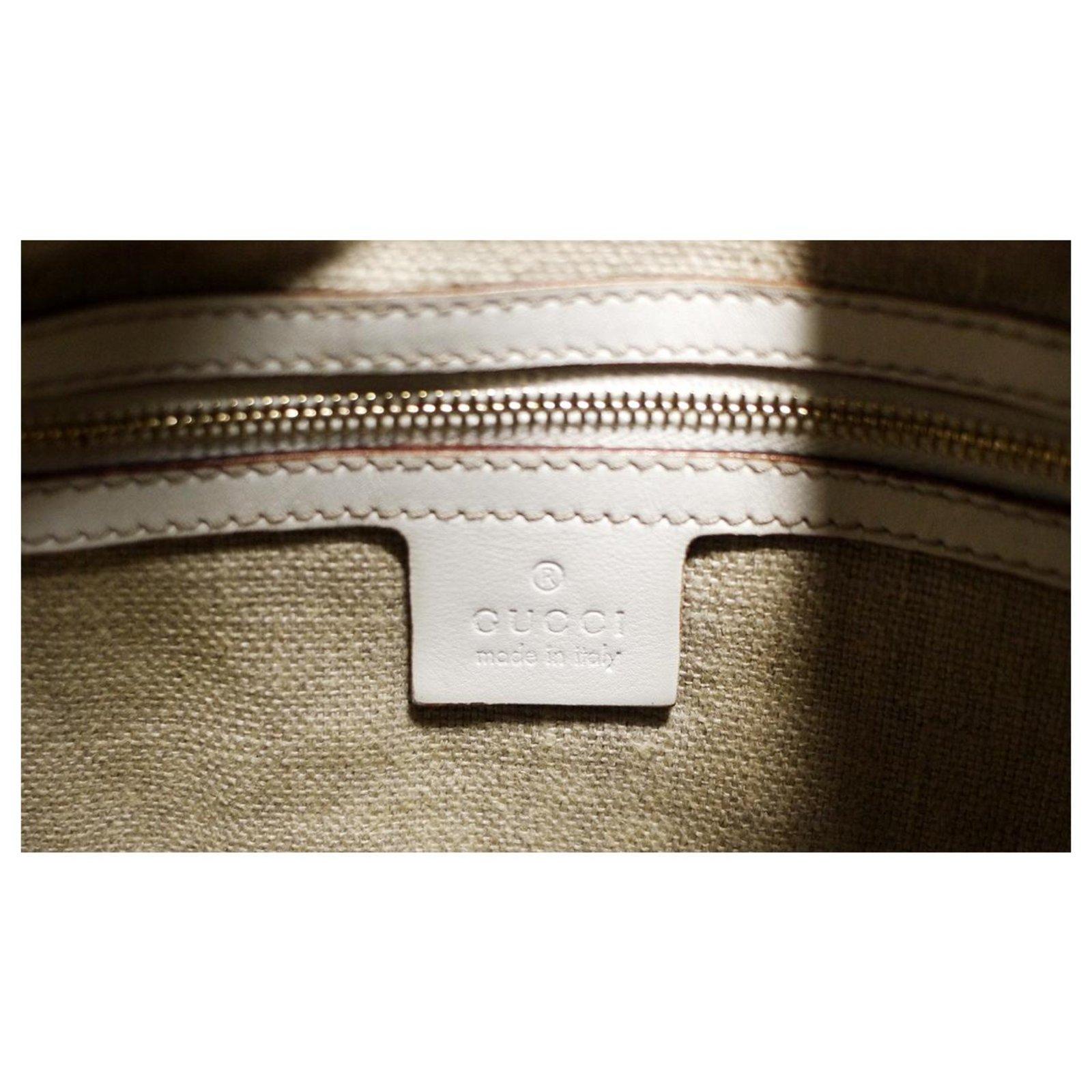 040dd69e0fea Gucci Jakie Handbags Leather White ref.123654 - Joli Closet