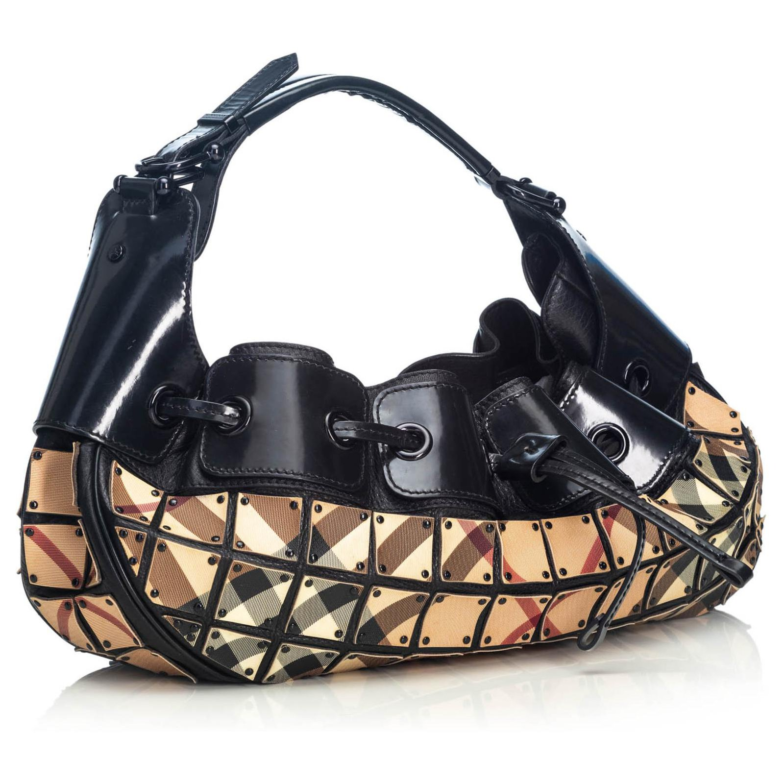 bc3ce23a6107 Burberry Burberry Brown Nova Check Warrior Hobo Handbags Leather ...