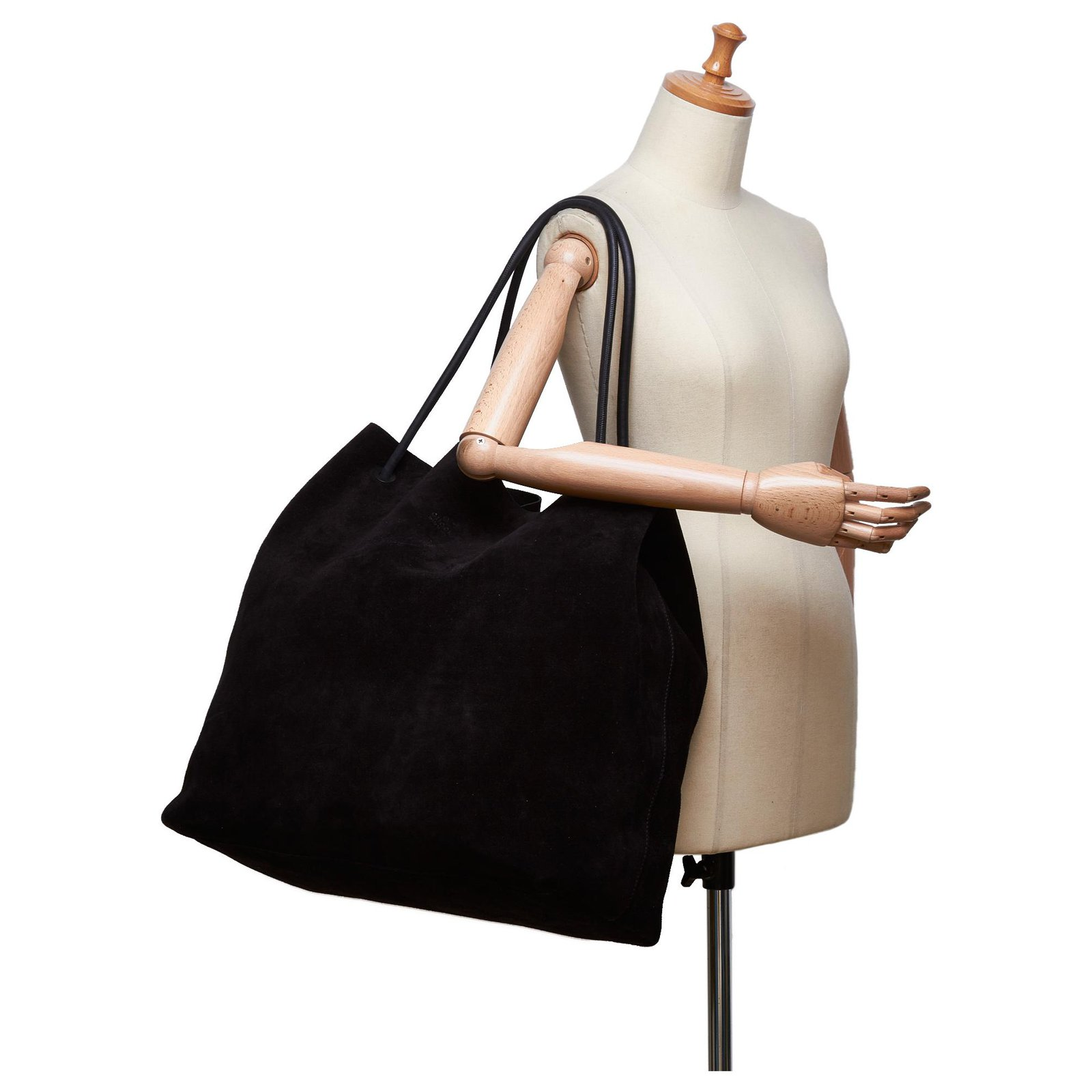 8c7b13d88 Gucci Gucci Black Suede Tote Bag Totes Suede,Leather,Other Black ref.124219  - Joli Closet