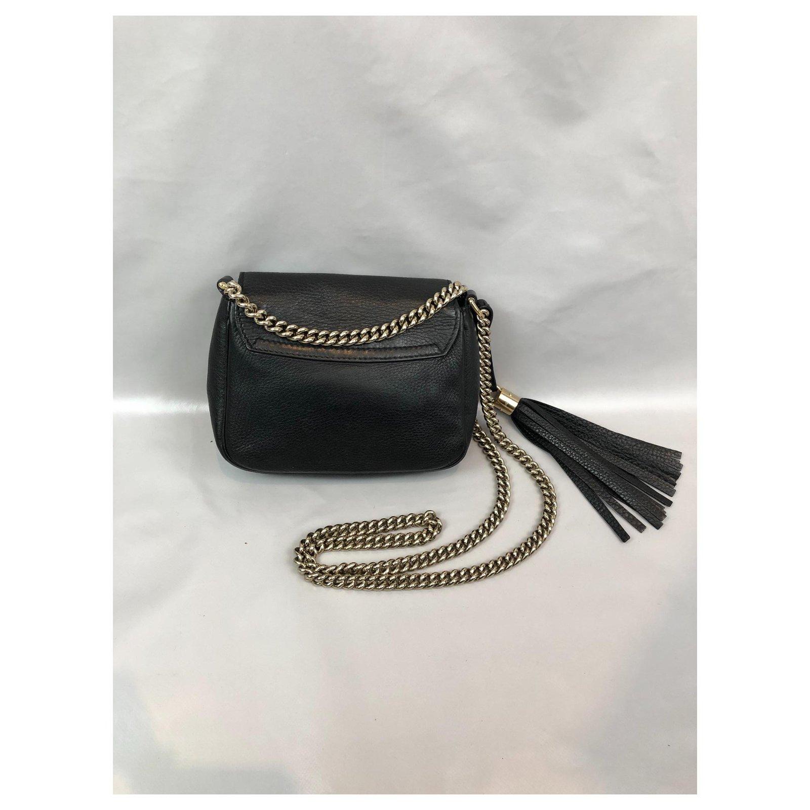 03115ca3d766 Gucci Soho mini Handbags Leather Black ref.124775 - Joli Closet