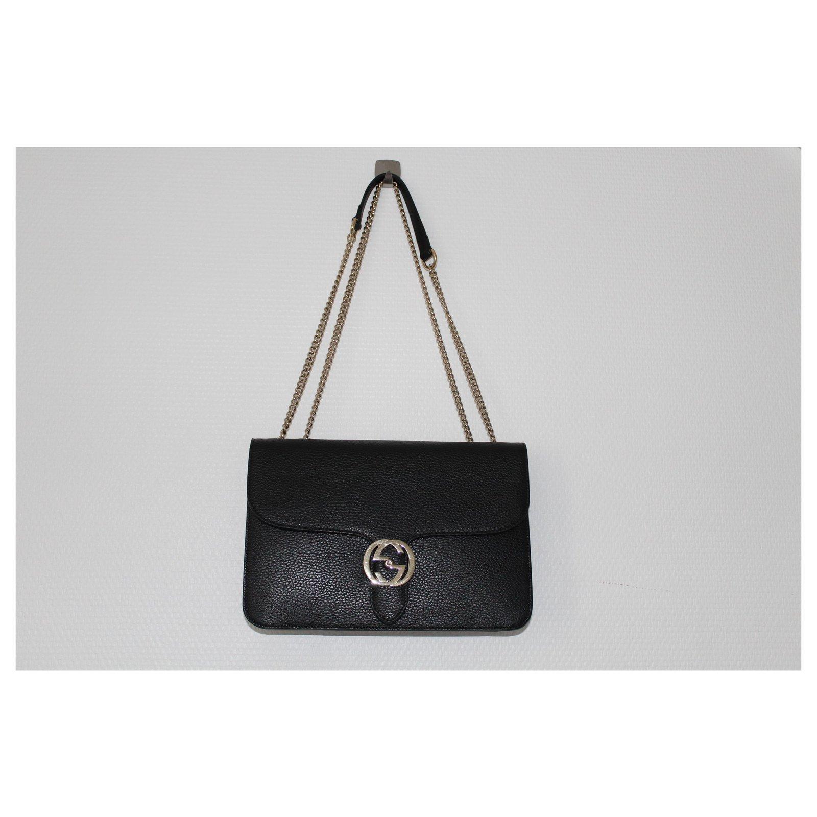 93831668eaaa Gucci interlocking Handbags Lambskin Black ref.124973 - Joli Closet