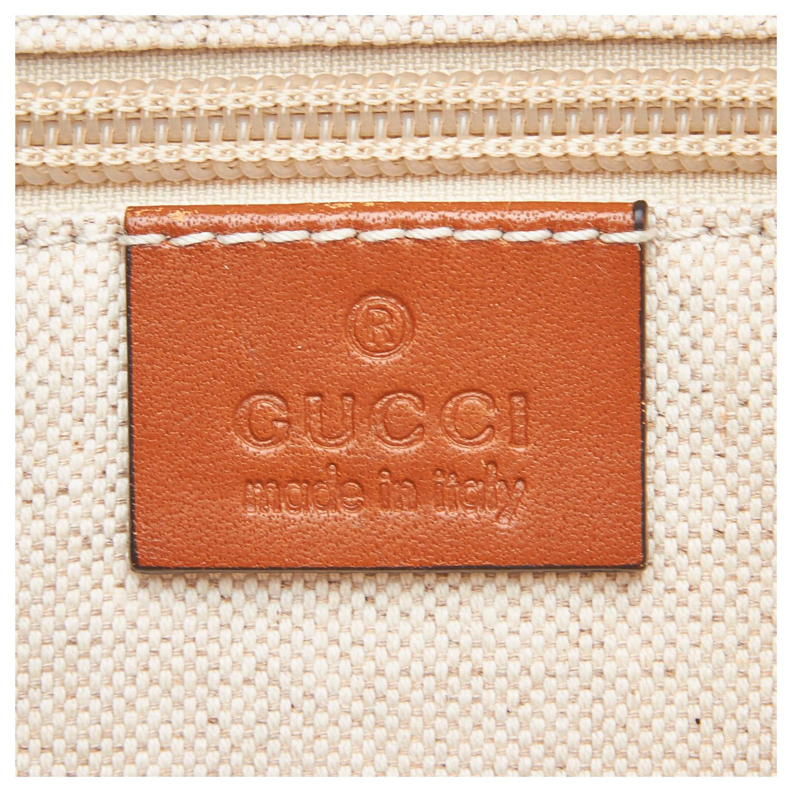 1fb1bcea1e54e6 Gucci Gucci Brown Web Straw Tote Bag Totes Leather,Other,Straw Brown,Multiple  colors,Beige ref.125285 - Joli Closet