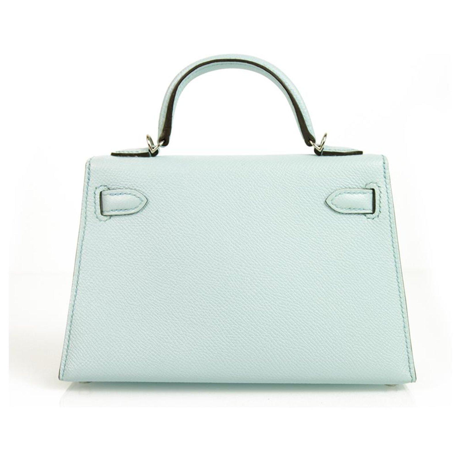 870084c460ea Hermès Hermes Mini Kelly 20 II Blue Zephyr Epsom with Palladium Hardware  mint condition Handbags Leather Light blue ref.125996 - Joli Closet