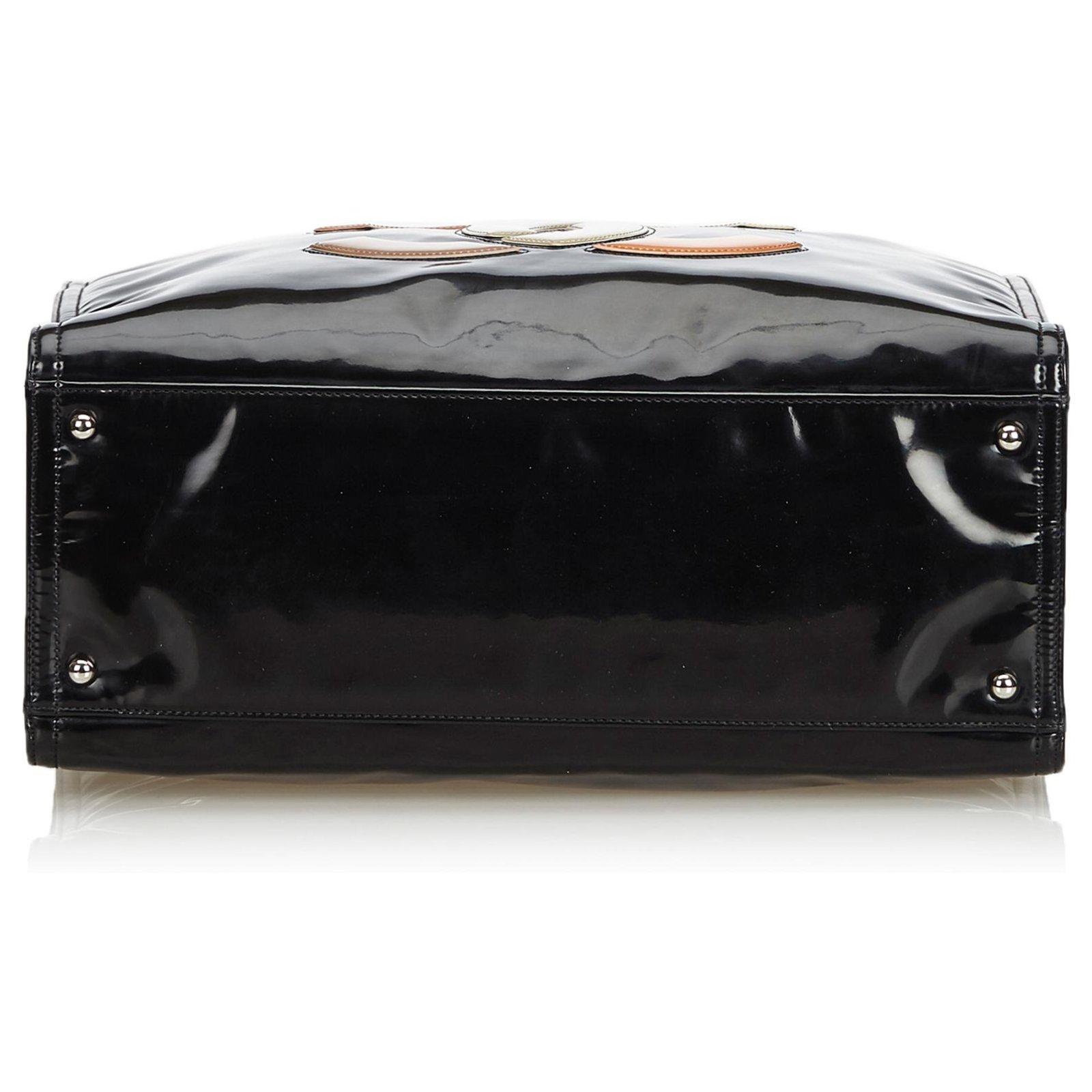 5d94d88362ab49 Chanel Chanel Black Patent Leather Lipstick Tote Bag Totes Leather,Patent  leather,Lambskin Black,Multiple colors ref.126271 - Joli Closet