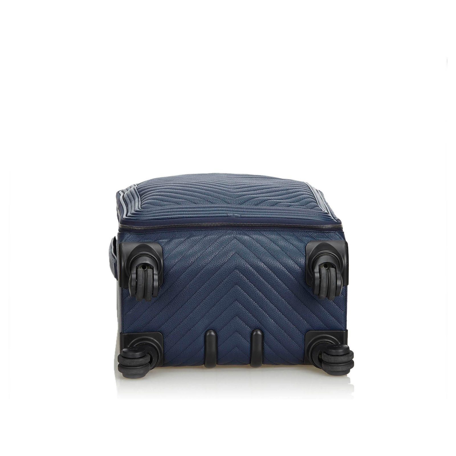 5dfe9629e2ff2d Chanel Chanel Blue Caviar Coco Case Trolley Travel bag Leather Blue  ref.126336 - Joli Closet