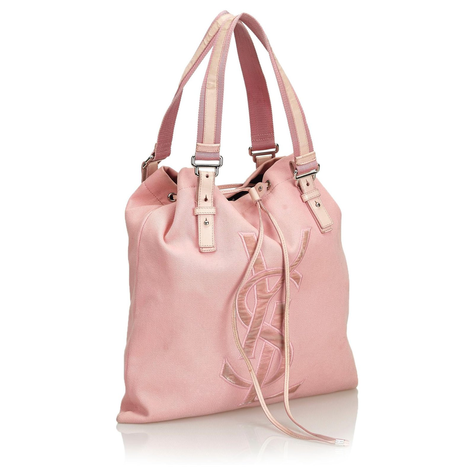 57171bcea05 Yves Saint Laurent YSL Pink Canvas Kahala Tote Totes Leather,Other,Cloth,Cloth  Pink ref.126699 - Joli Closet