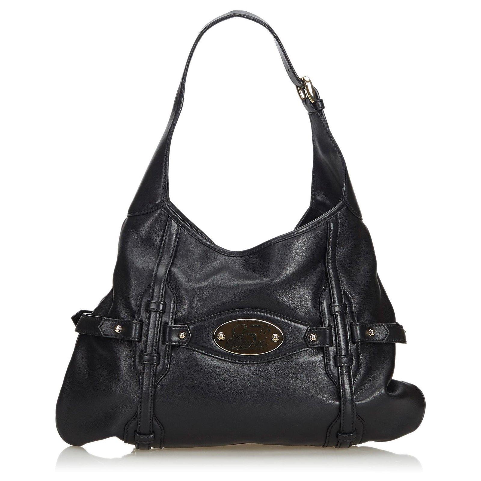 08004b328 Gucci Gucci Black 85th Anniversary Horsebit Leather Hobo Bag Handbags  Leather,Other,Metal Black ref.129987 - Joli Closet