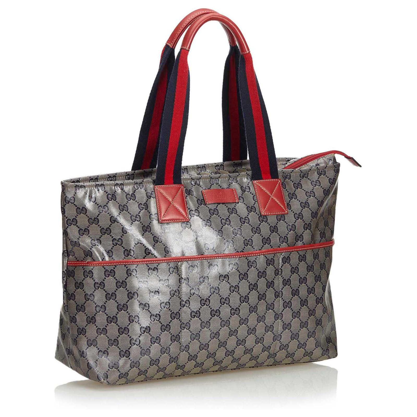 34912a12c Facebook · Pin This. Gucci Gucci Gray GG Supreme Coated Canvas Tote Bag  Totes Leather ...