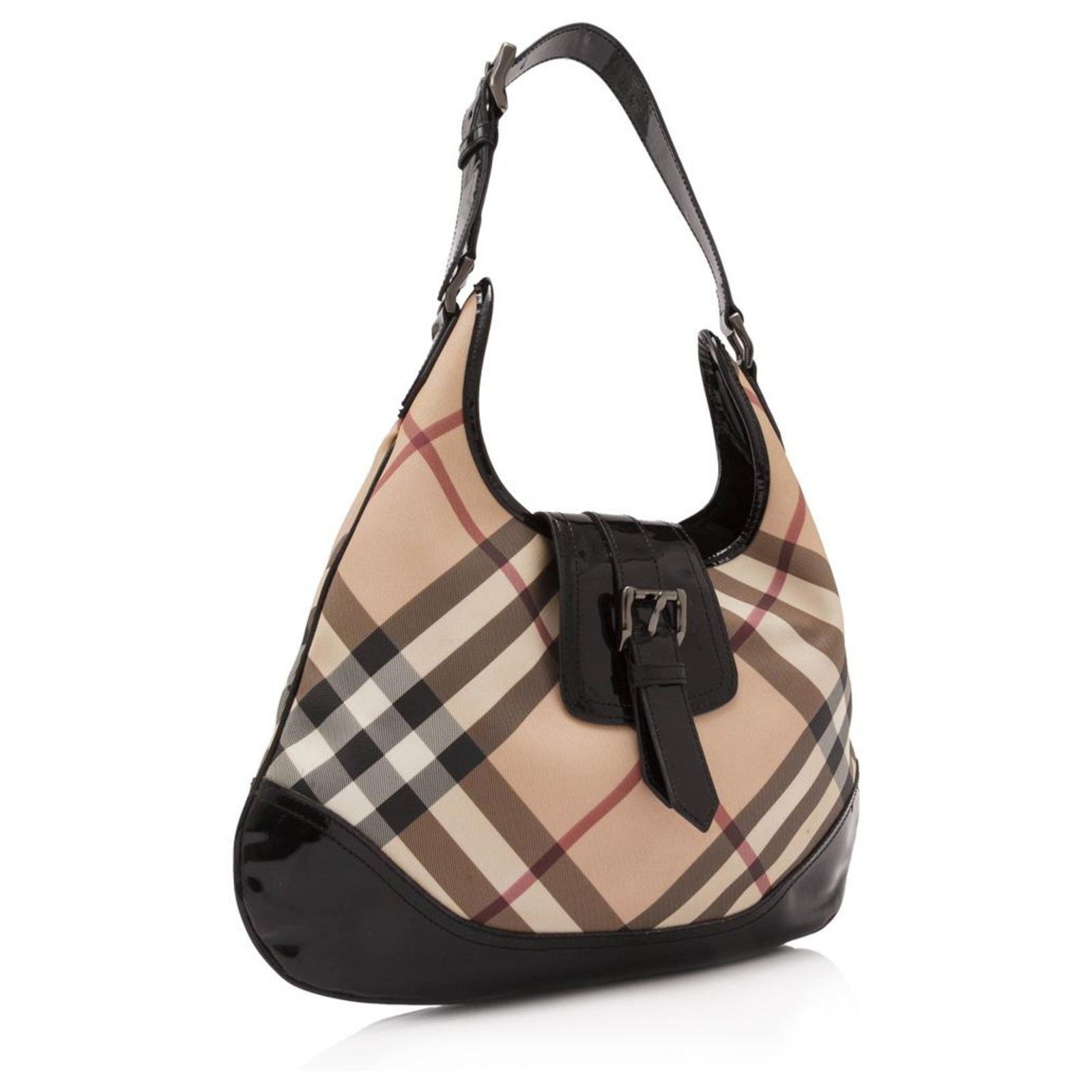 f3ead9172e1 Burberry Burberry Brown Nova Check Coated Canvas Brooke Hobo Bag Handbags  Leather,Patent leather,Cloth,Cloth Brown,Multiple colors,Beige ref.132557 -  Joli ...
