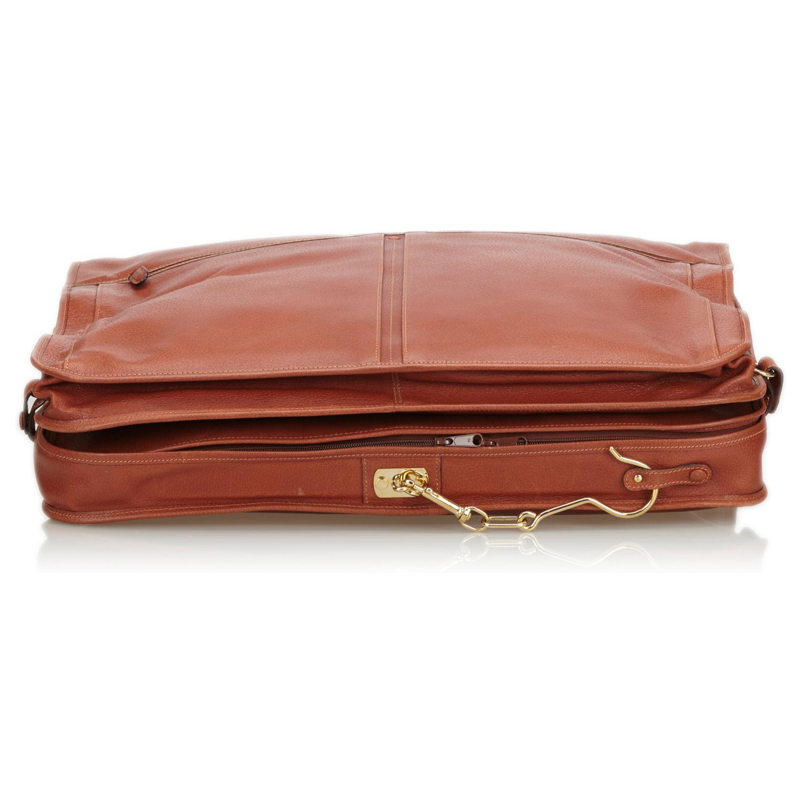 52d54f7a0 Gucci Gucci Brown Leather Garment Bag Travel bag Leather,Other Brown ...