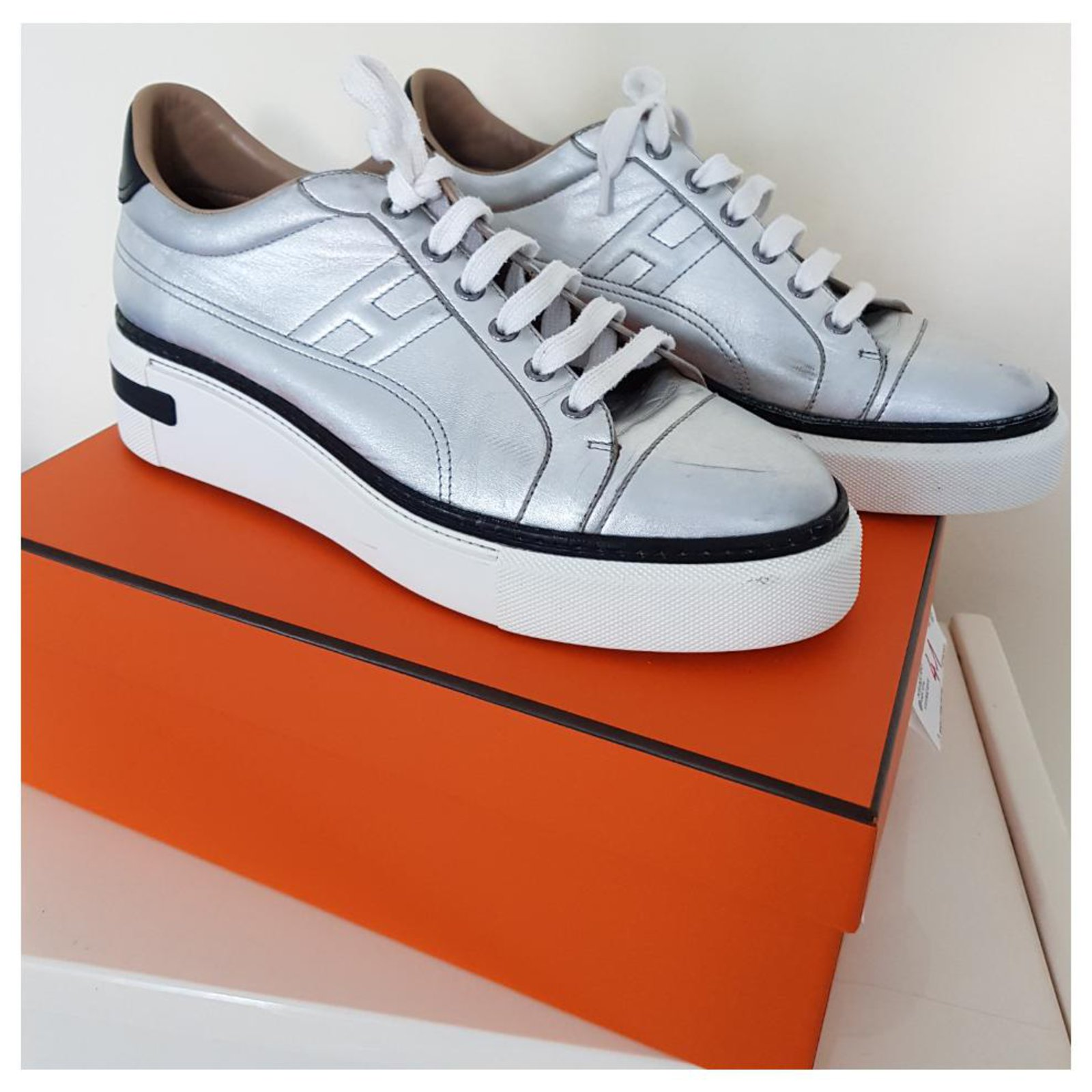 Hermès Polo Hermes silver Sneakers
