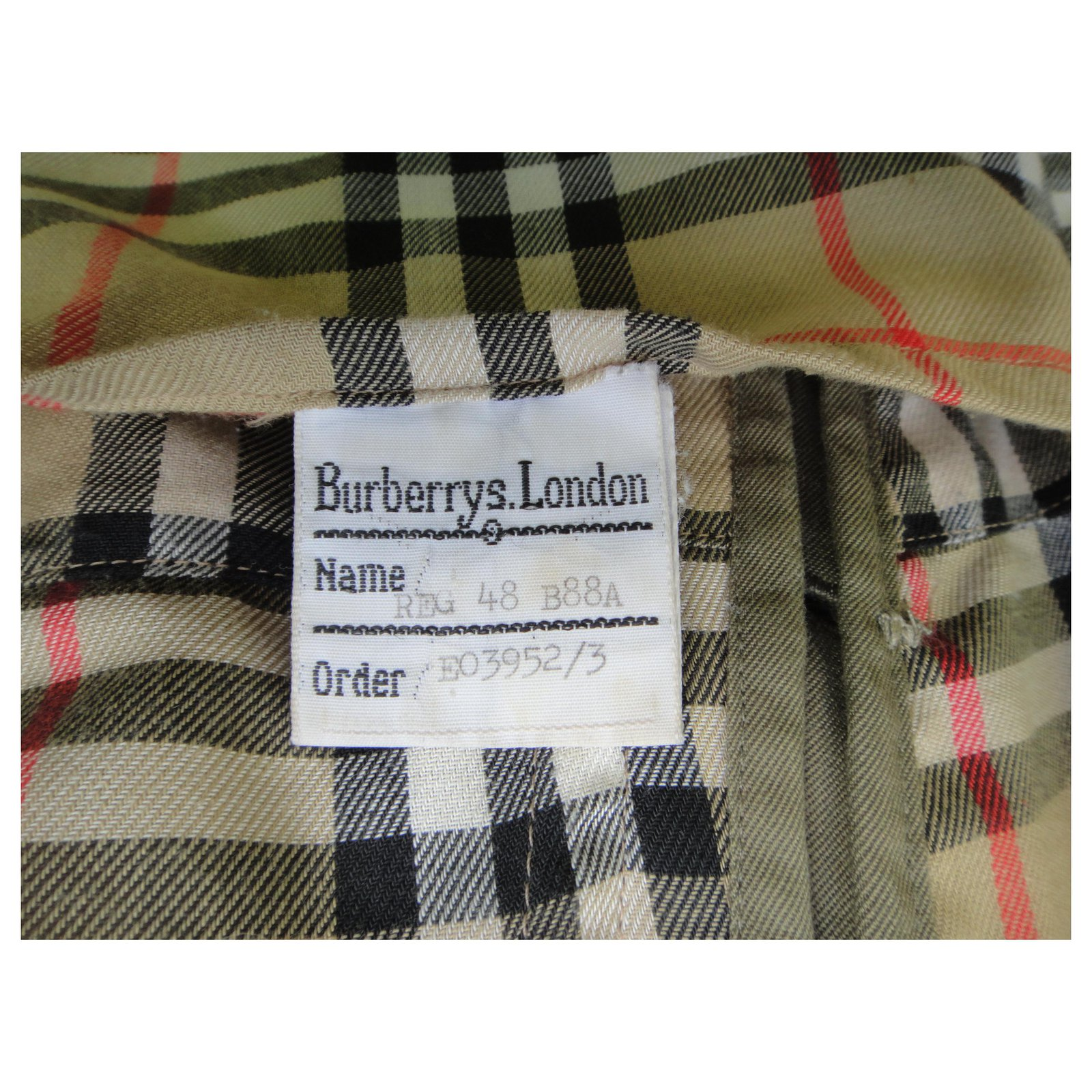 Burberry Burberry trenchcoat khaki vintage t 48 immaculate