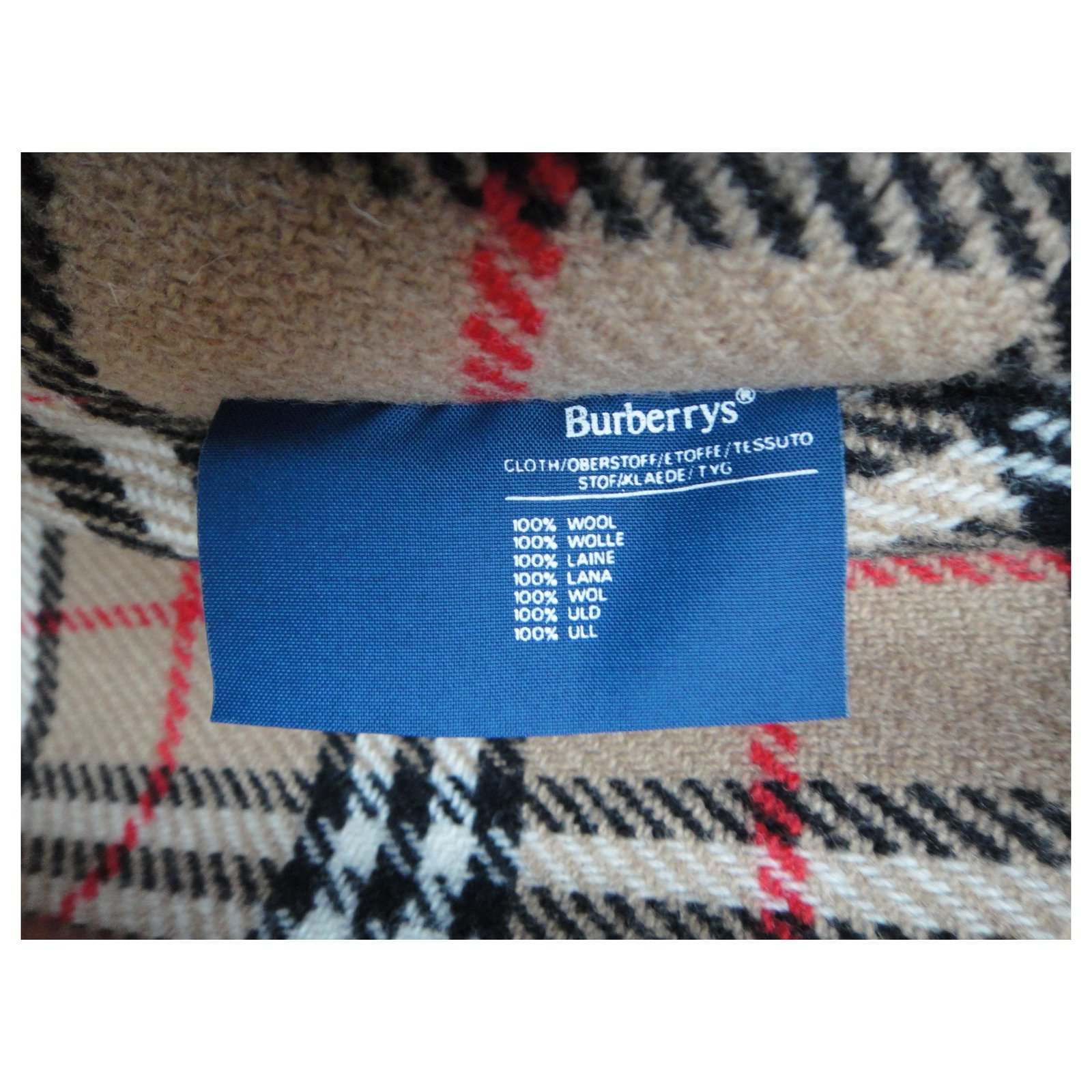 Vintage BURBERRYS Woolen Trench Coat | Veste BURBERRY laine