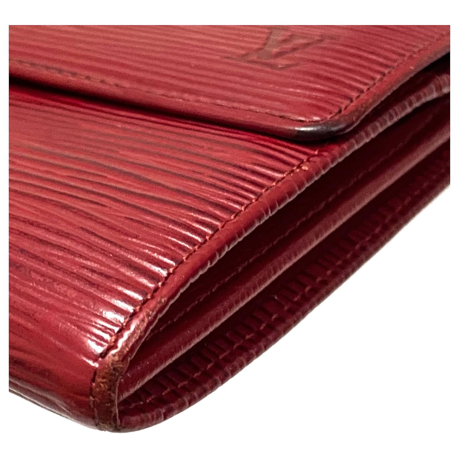 Louis Vuitton Red Epi Porte Monnaie Kredit Rot Leder ref